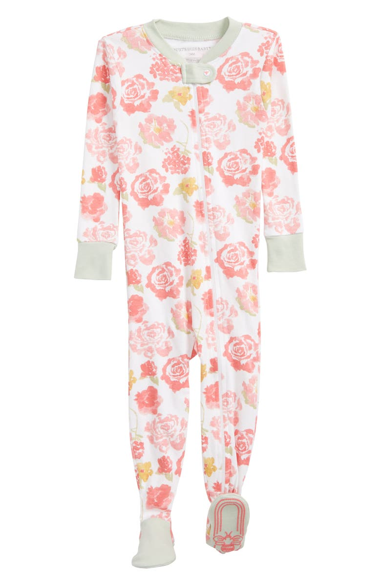 8f321d6782a BURT S BEES BABY Rosy Spring Lightweight Organic Cotton Fitted One-Piece  Footie Pajamas