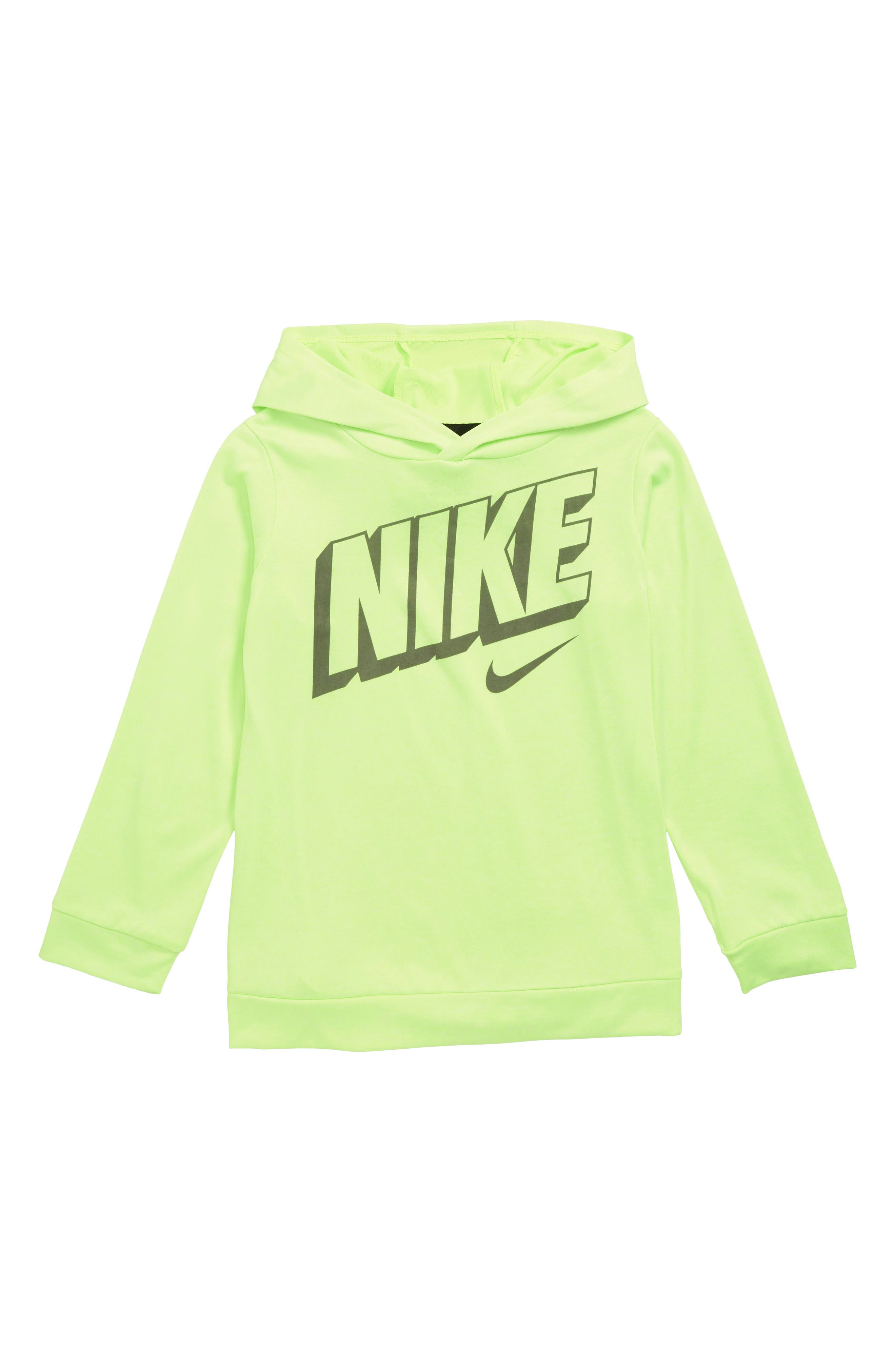 Dry Breathe Graphic Hoodie,                         Main,                         color, VOLT HEATHER