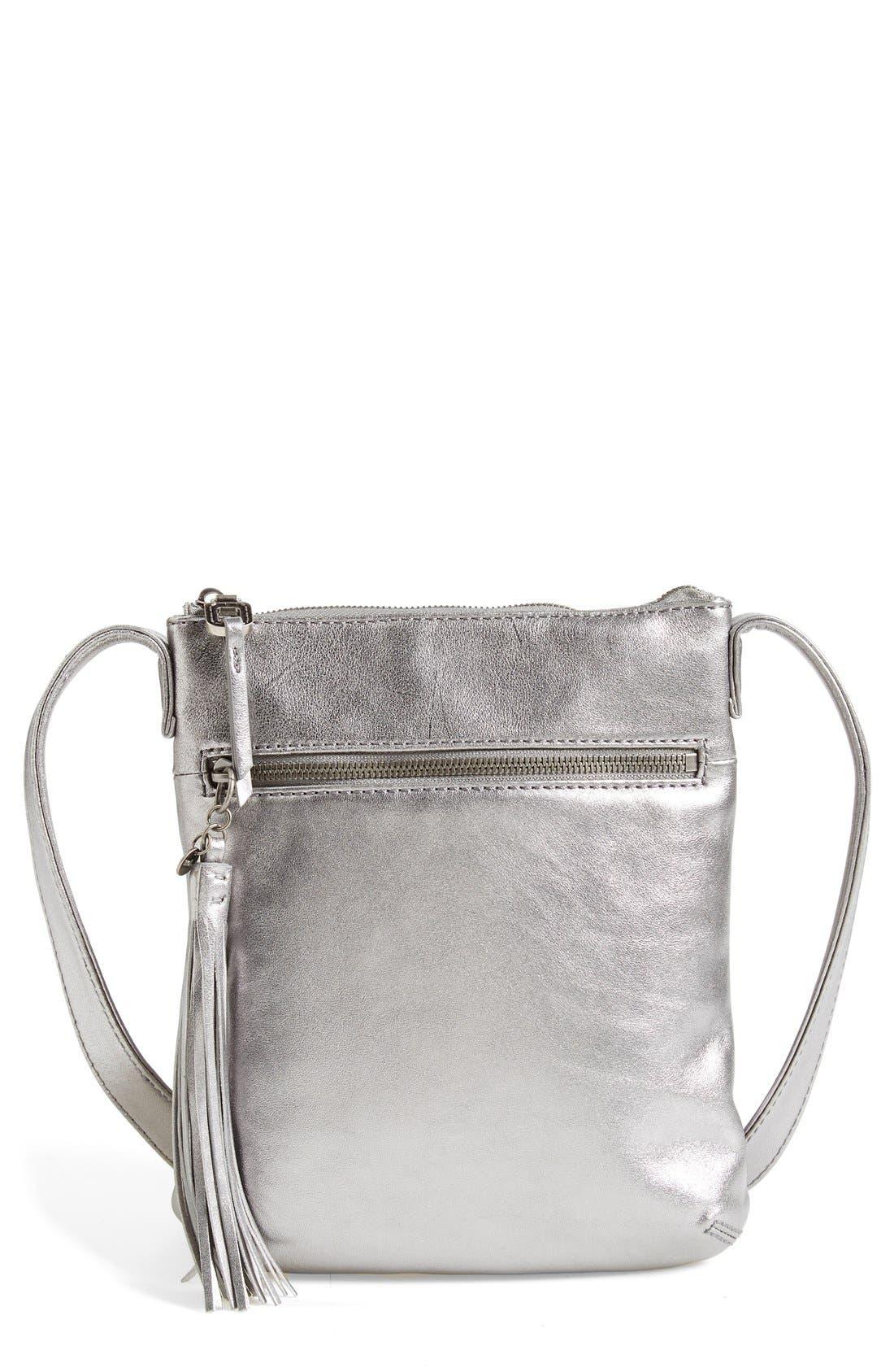 'Sarah' Leather Crossbody Bag,                             Main thumbnail 2, color,
