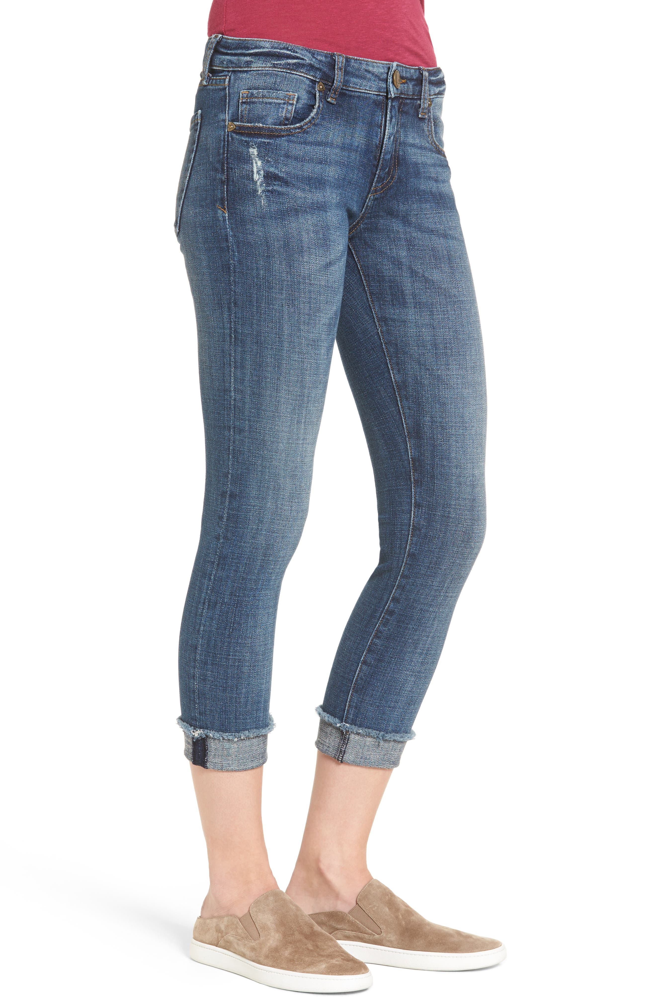 Amy Stretch Crop Skinny Jeans,                             Alternate thumbnail 3, color,