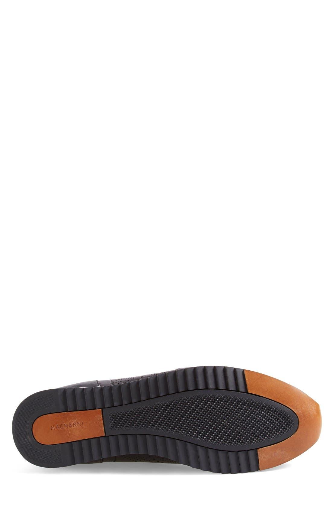 'Pueblo' Sneaker,                             Alternate thumbnail 4, color,                             BLACK LEATHER
