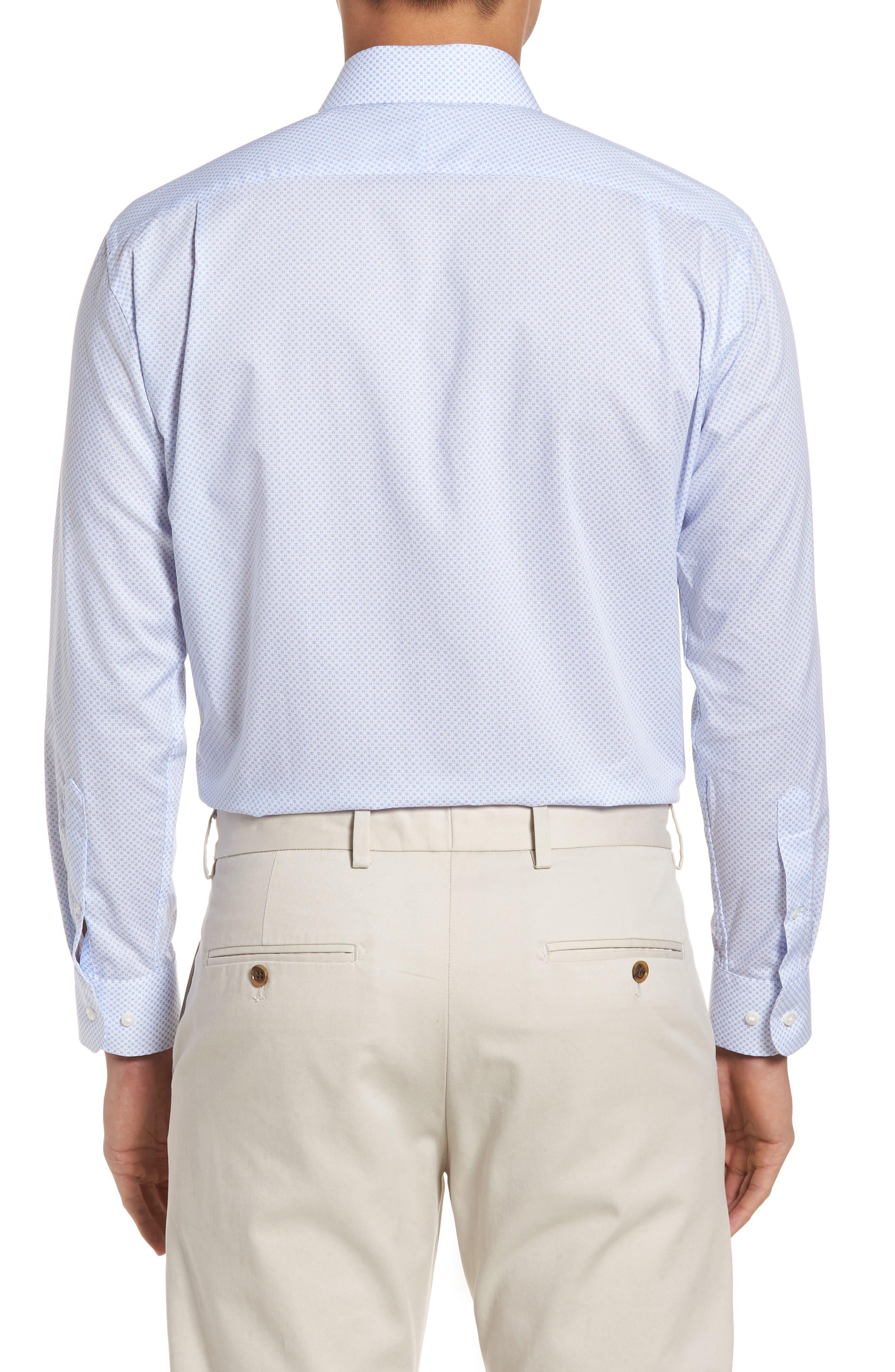 Trim Fit Dress Shirt,                             Alternate thumbnail 3, color,                             100
