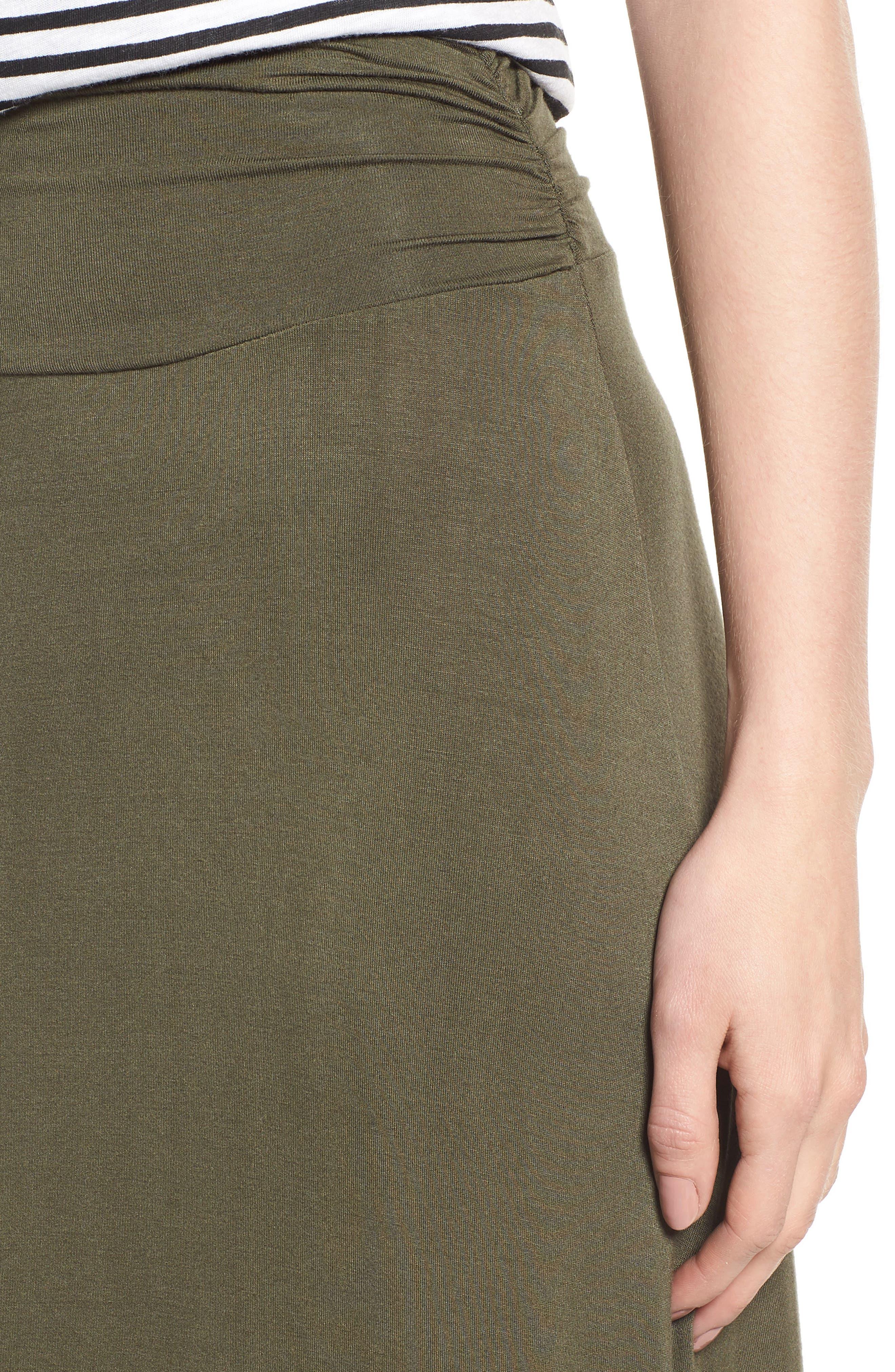 Ruched Waist Side Slit Maxi Skirt,                             Alternate thumbnail 4, color,                             302