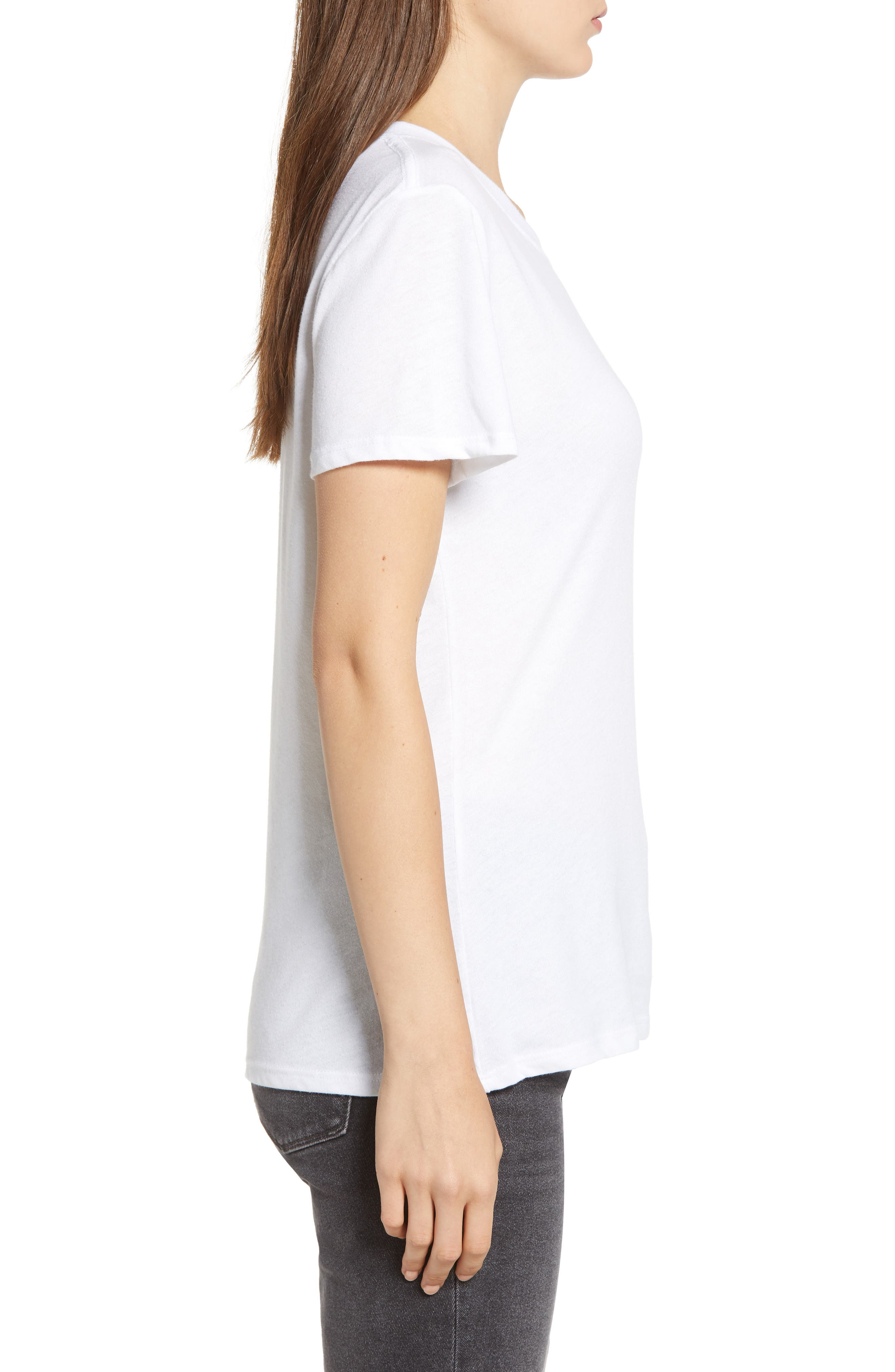 Old Fashioned Slouched Tee,                             Alternate thumbnail 3, color,                             WHITE