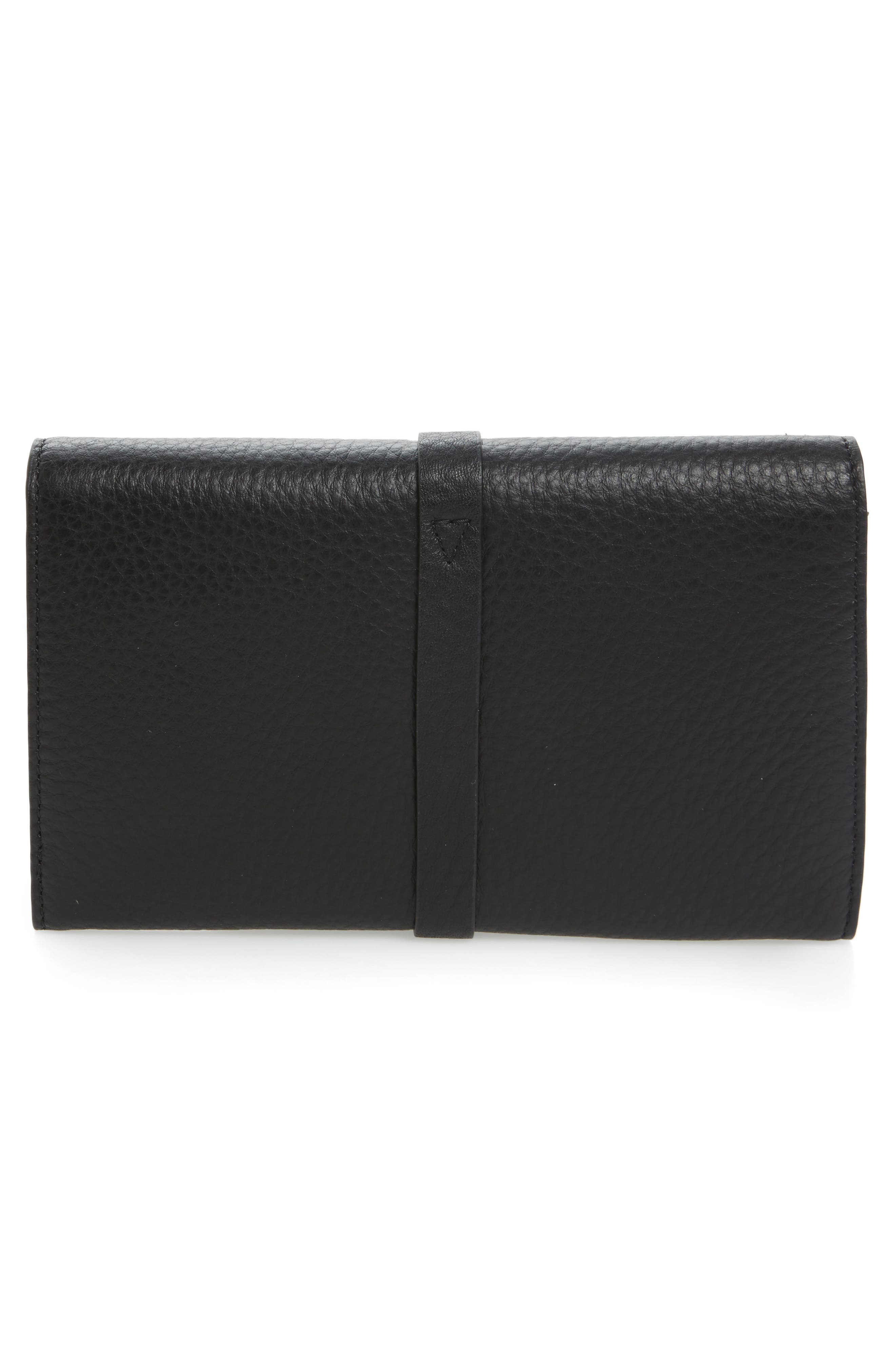 Atlas Leather Envelope Wallet,                             Alternate thumbnail 3, color,                             001