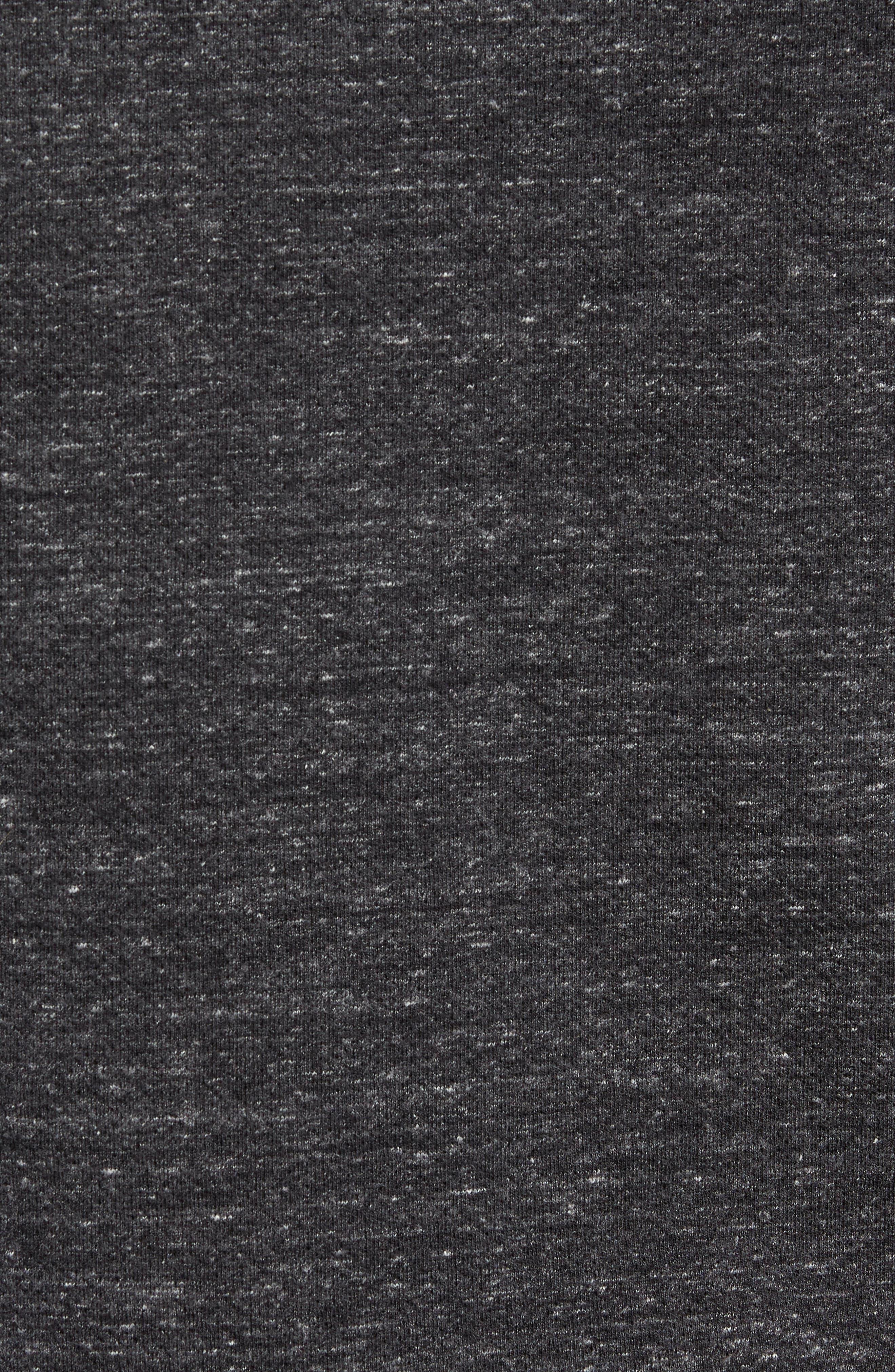 Trim Fit Side Zip Hooded Sweatshirt,                             Alternate thumbnail 5, color,                             020