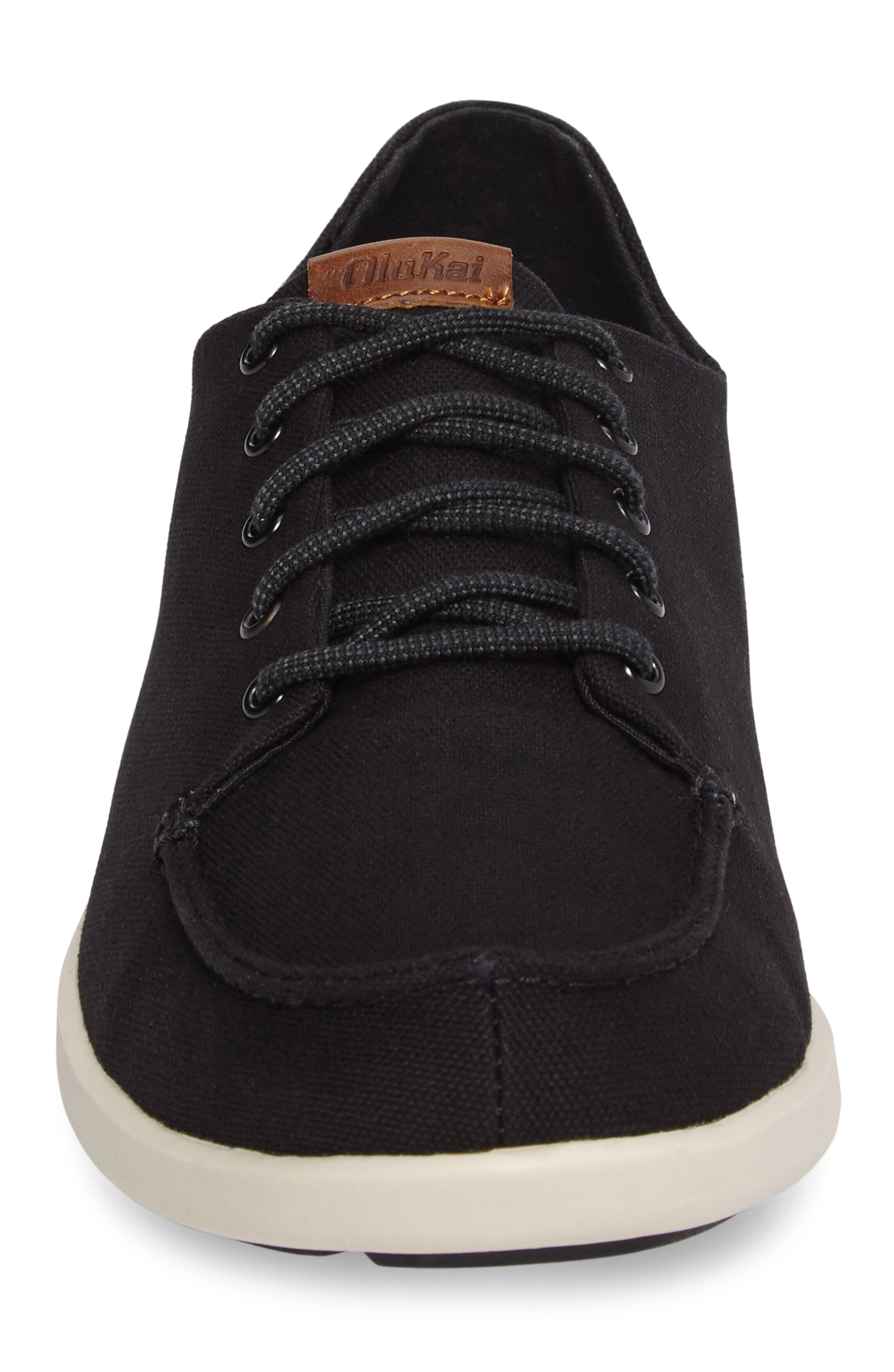 Manoa Sneaker,                             Alternate thumbnail 4, color,                             BLACK/ MUSTARD