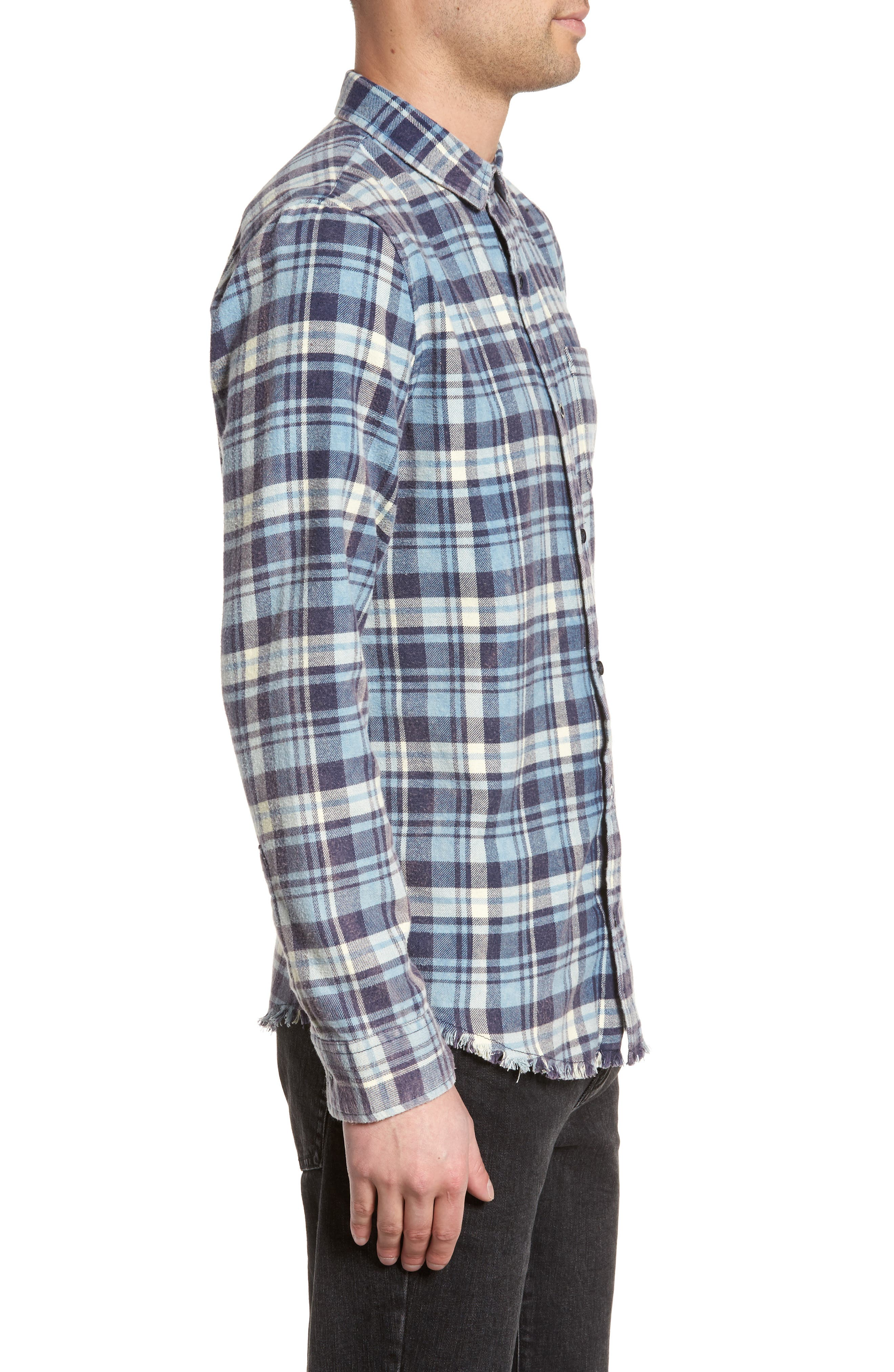 Plaid Flannel Shirt,                             Alternate thumbnail 3, color,                             420