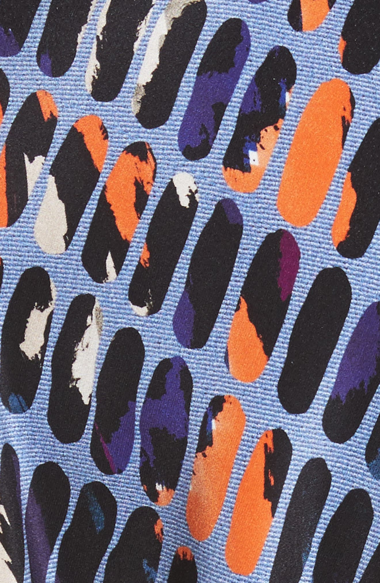 Pill Print Stretch Silk Dress,                             Alternate thumbnail 5, color,                             465