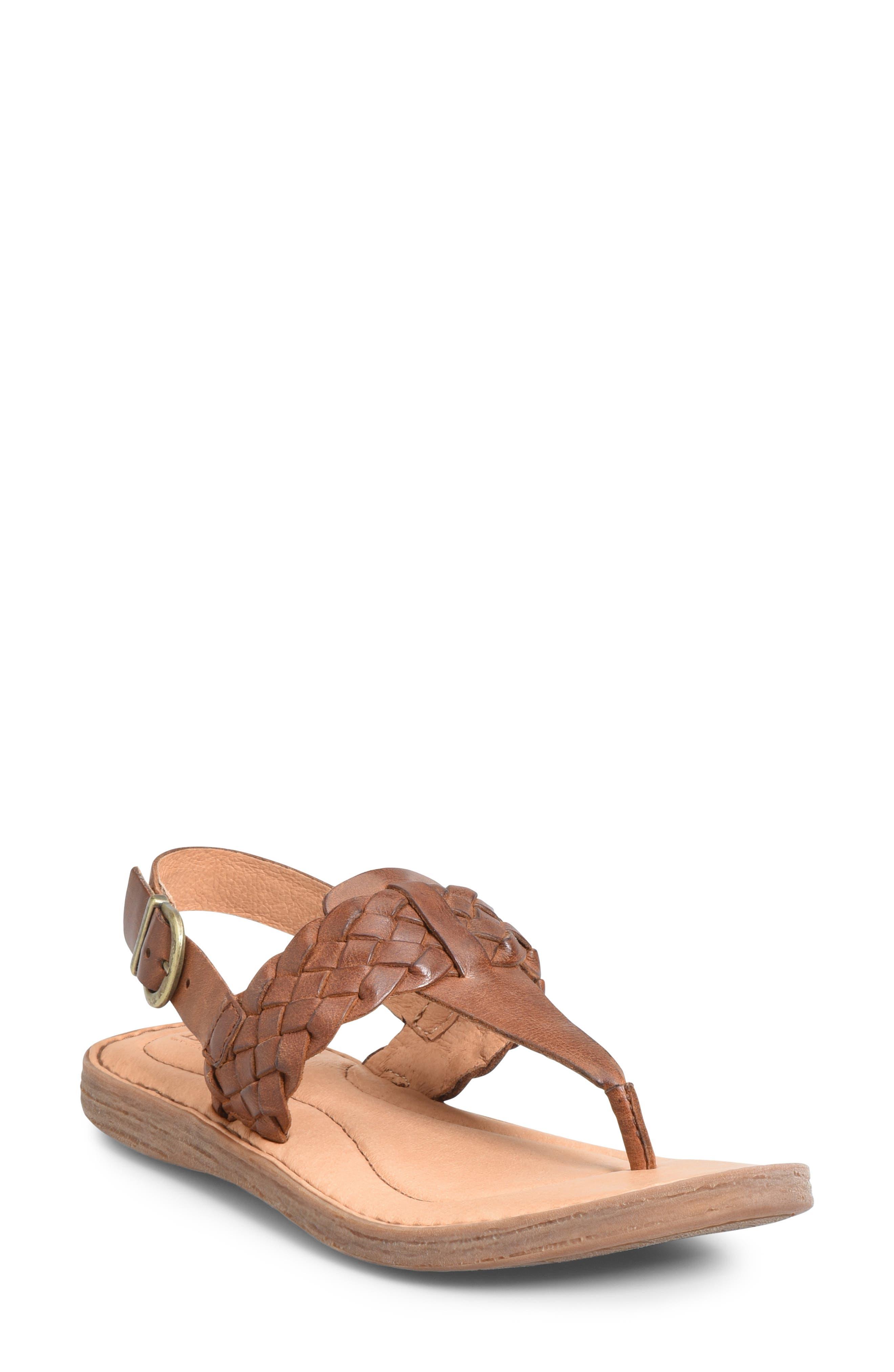 B?rn Sumter Braided Sandal, Brown
