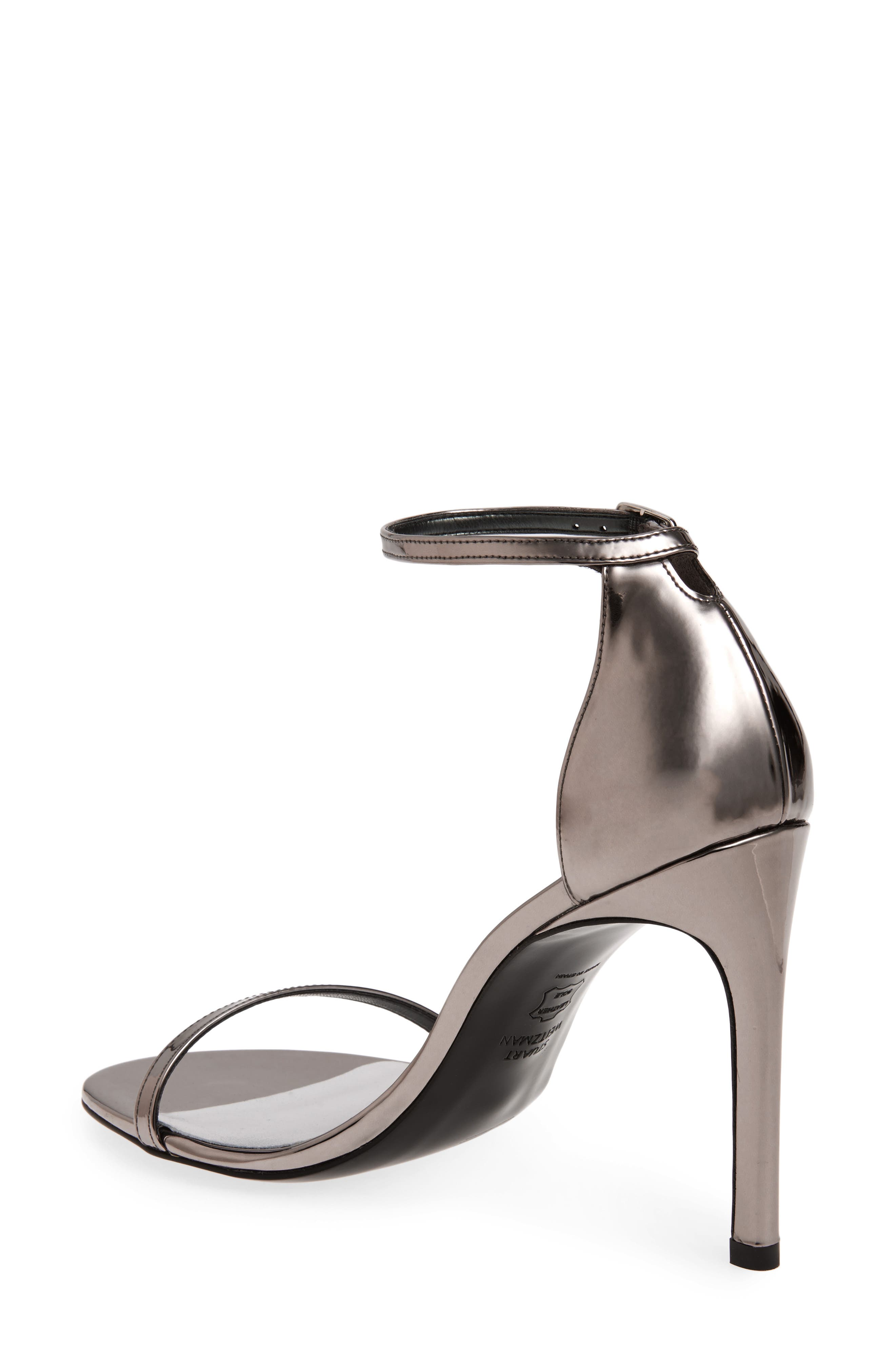 Nudistsong Ankle Strap Sandal,                             Alternate thumbnail 2, color,                             PEWTER GLASS