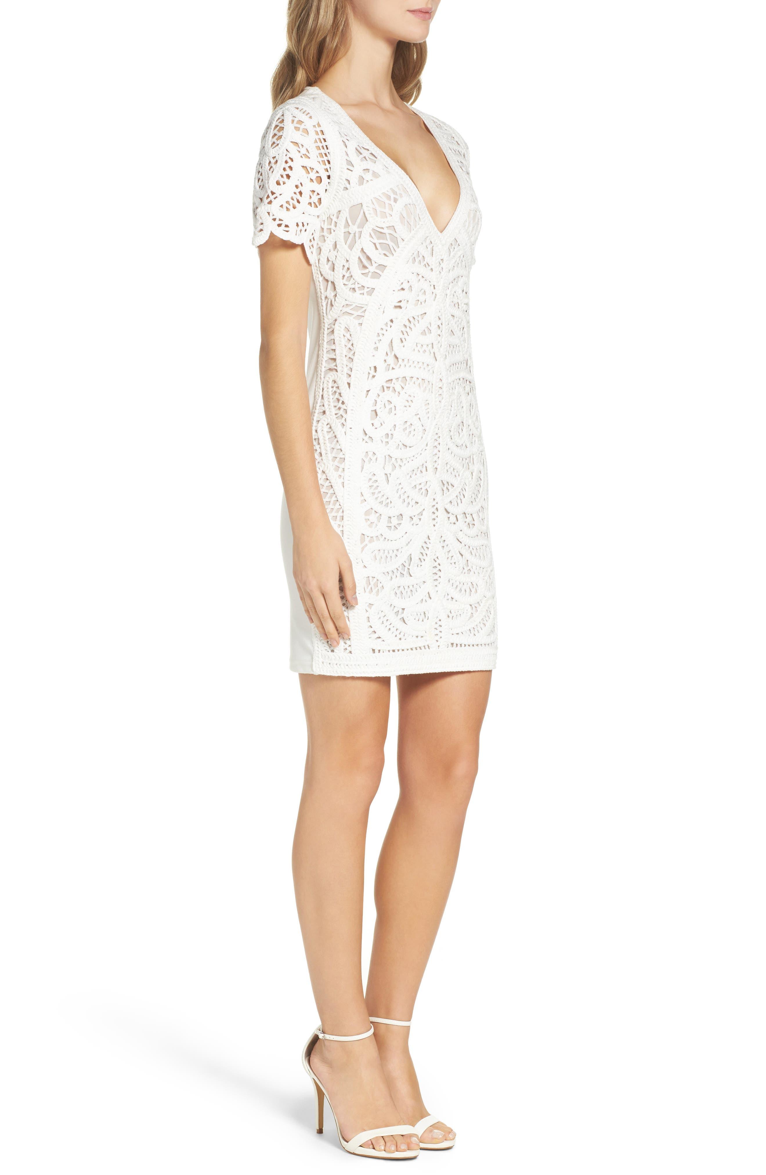 Mesi Lace Dress,                             Alternate thumbnail 3, color,                             101