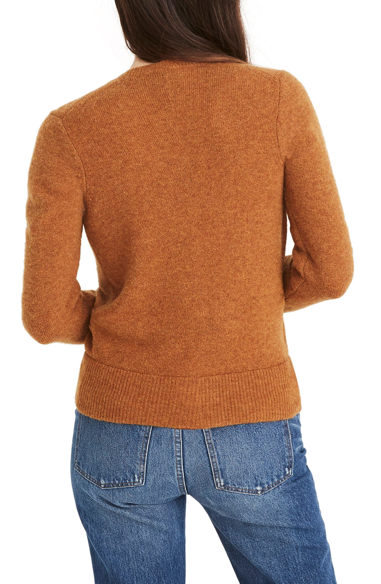 Faux Wrap Pullover Sweater,                             Alternate thumbnail 3, color,                             HEATHER HARVEST