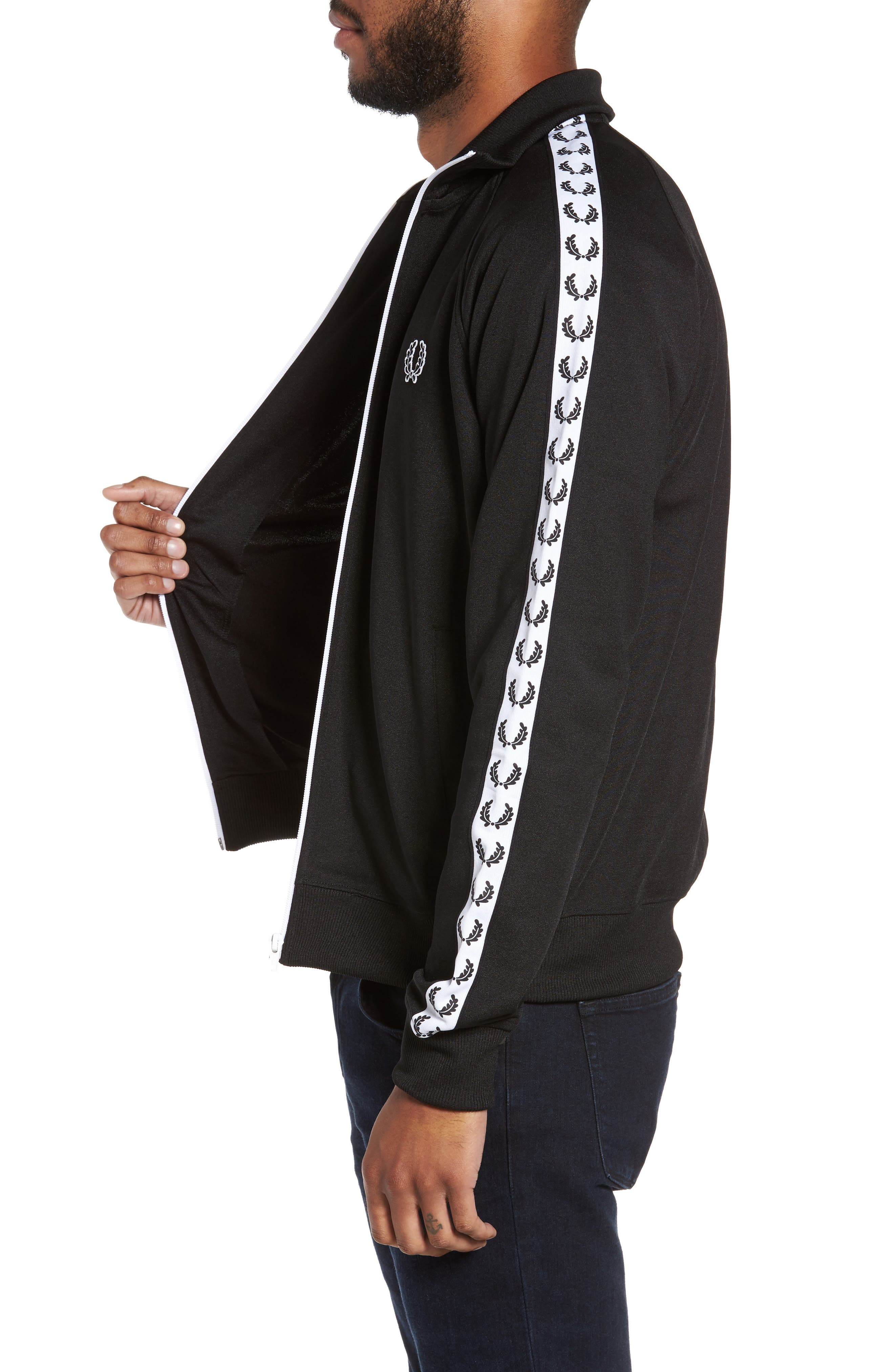 FRED PERRY,                             Laurel Tape Track Jacket,                             Alternate thumbnail 3, color,                             002