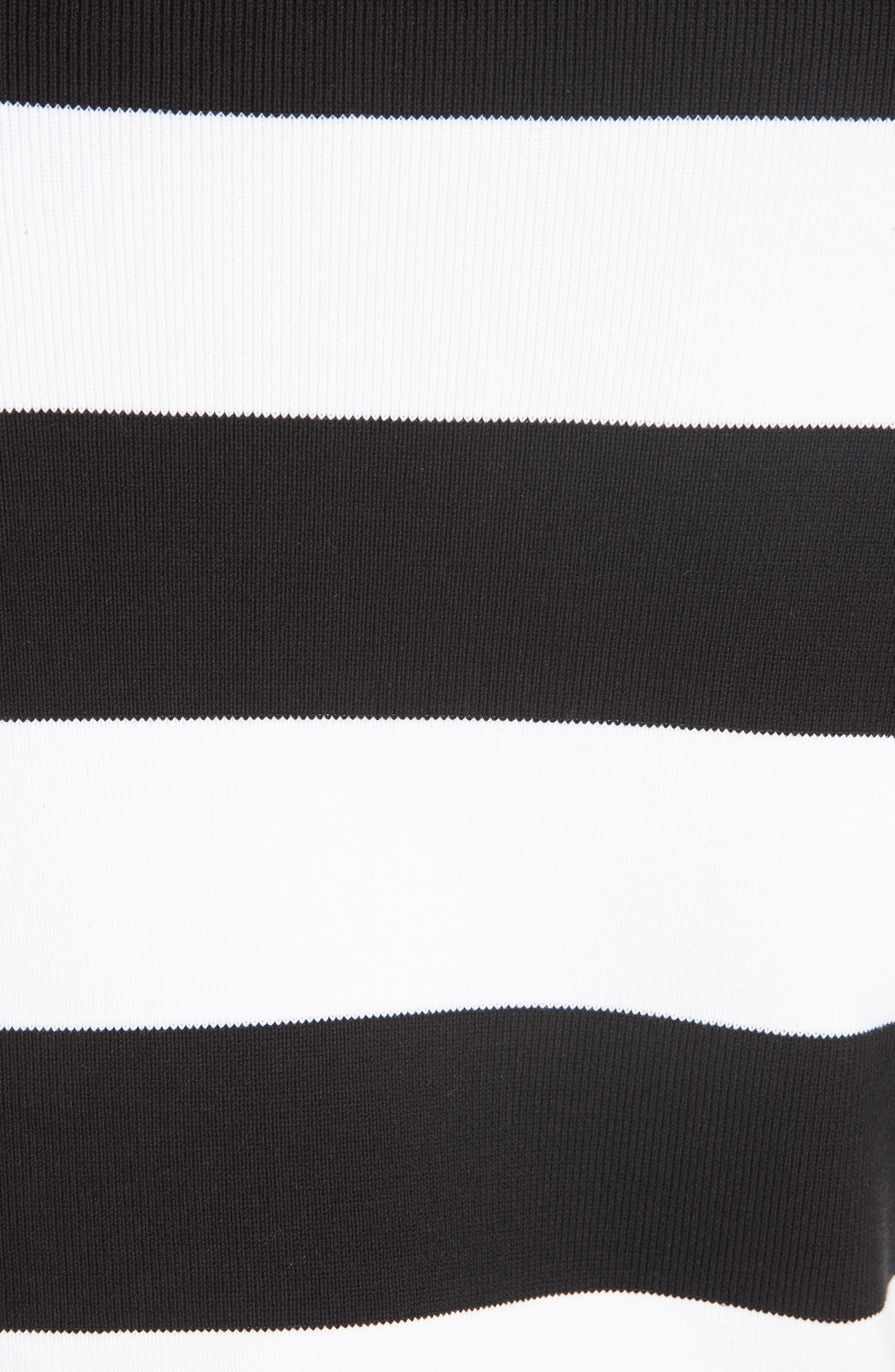 Starfish Embellished Scallop Hem Sweater,                             Alternate thumbnail 6, color,                             BLACK/ WHITE