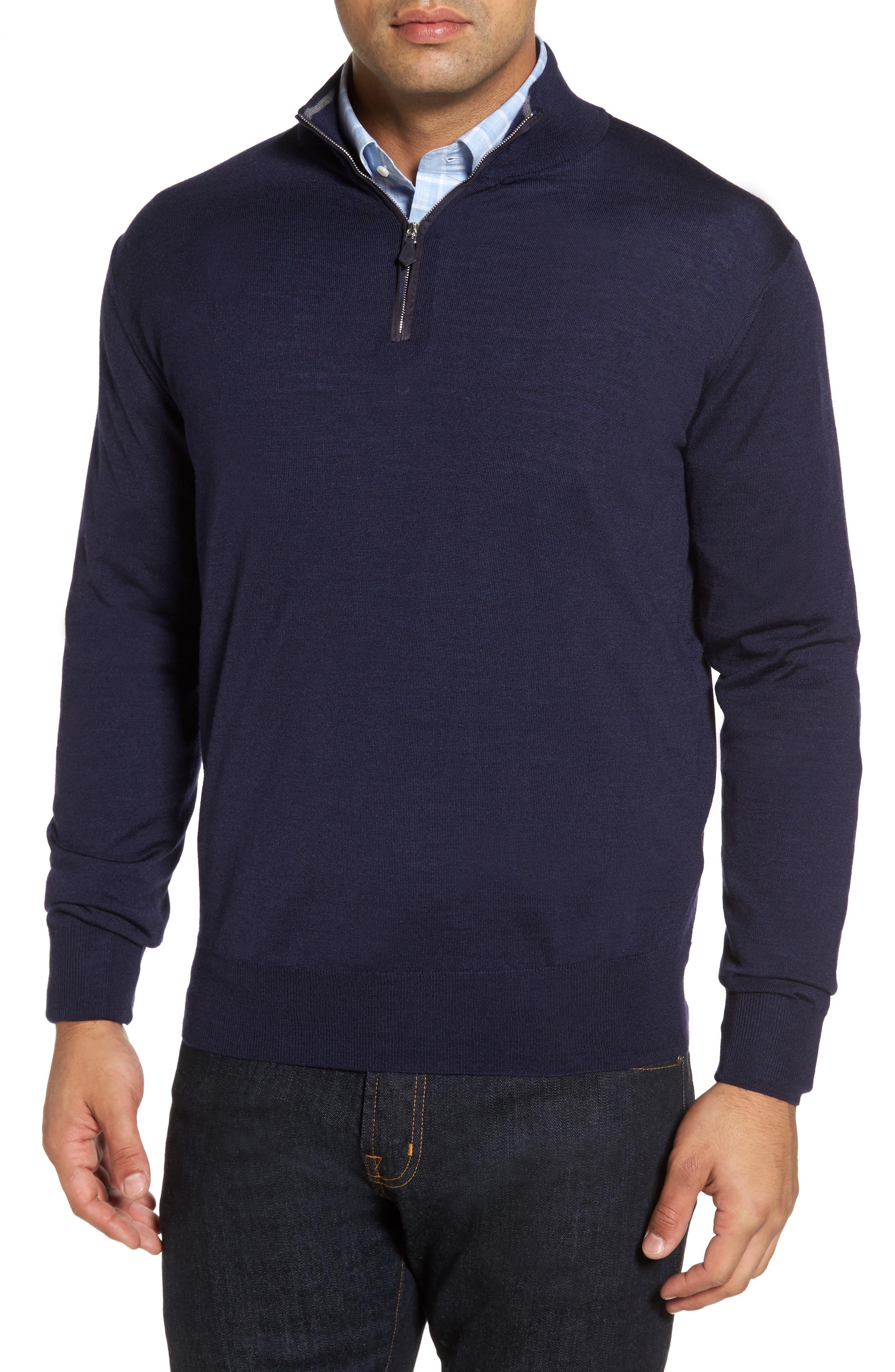 Wool Blend Quarter Zip Sweater,                             Main thumbnail 2, color,