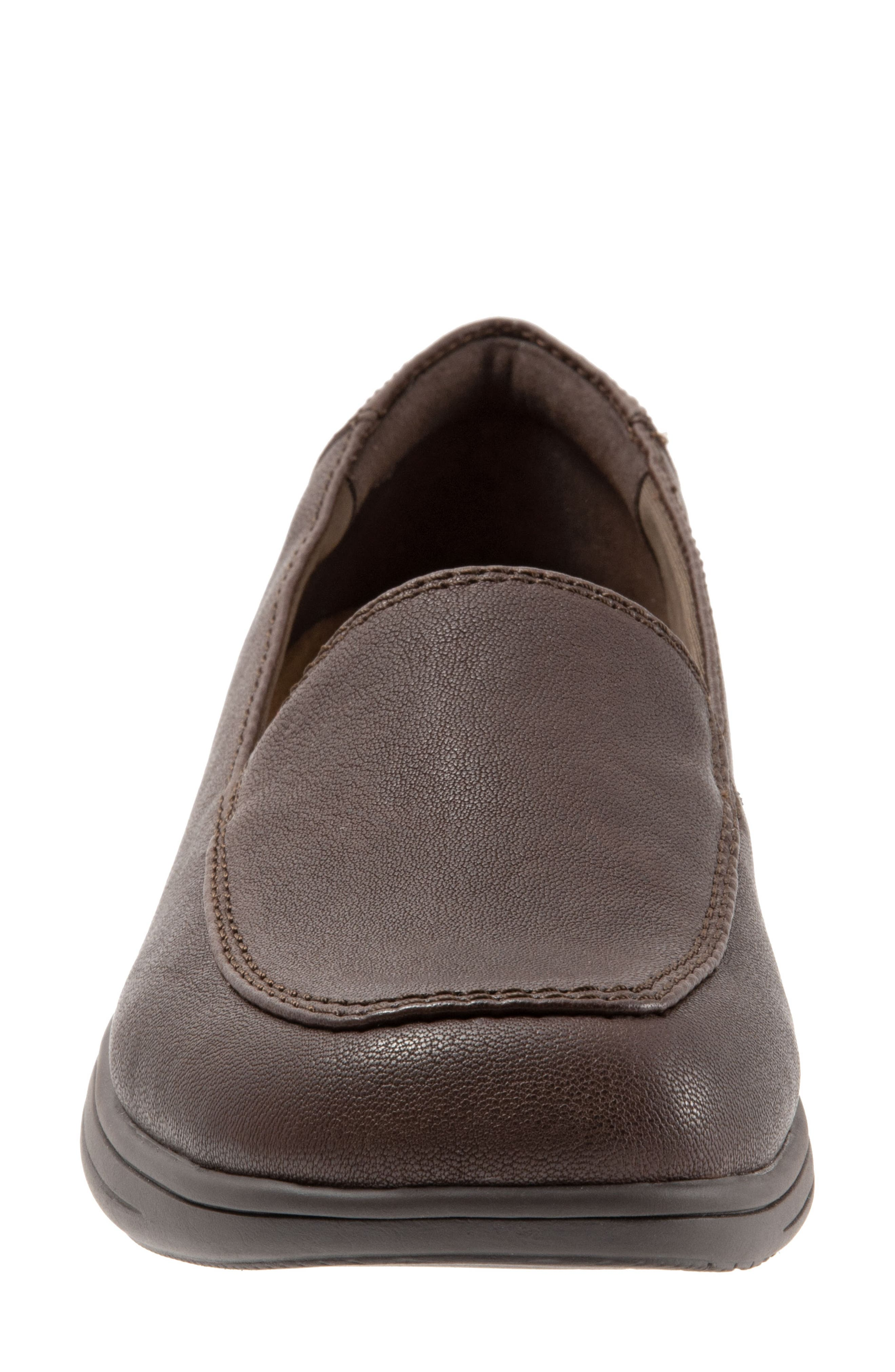 Jacob Loafer,                             Alternate thumbnail 4, color,                             DARK BROWN LEATHER