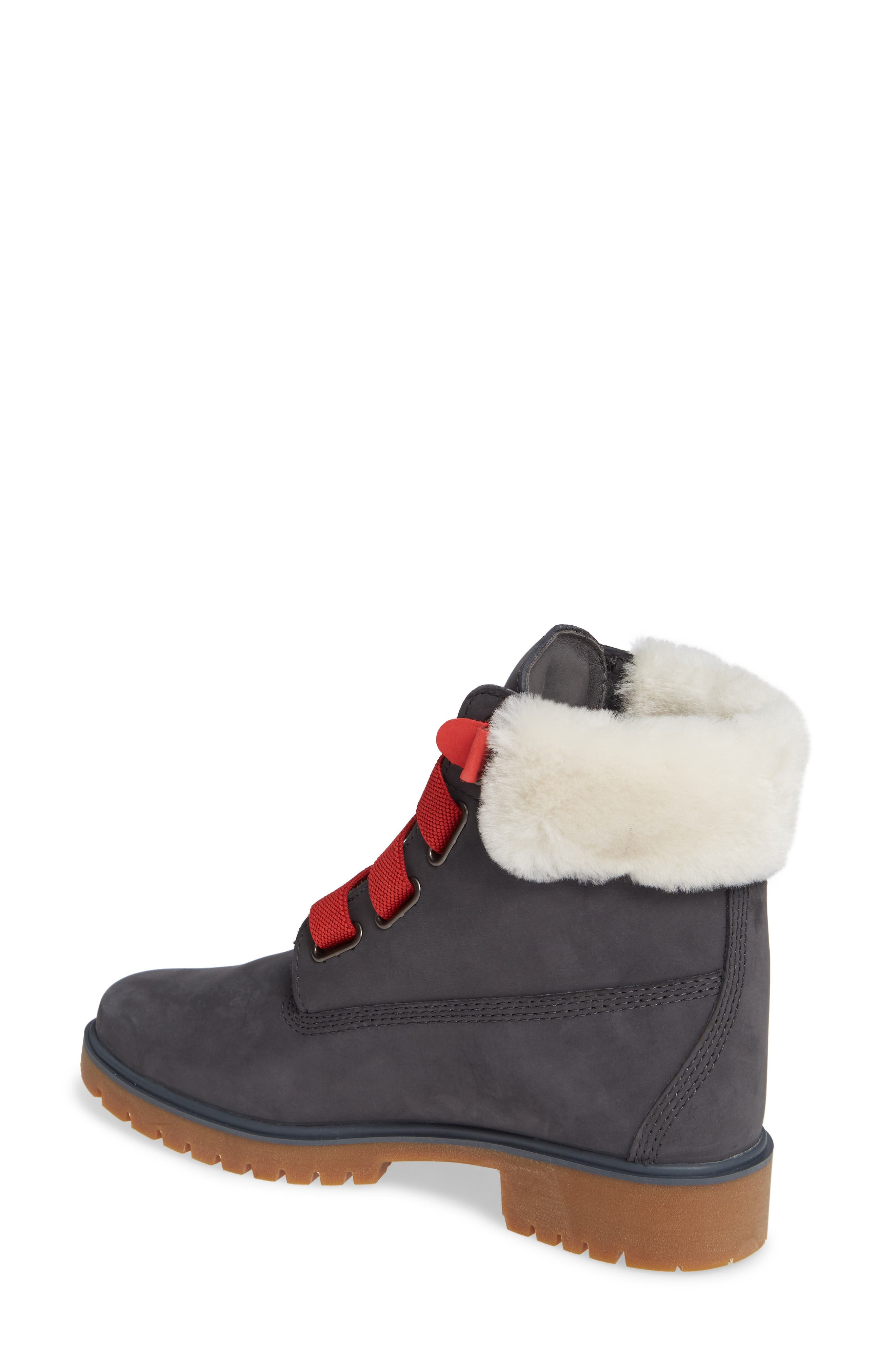 Convenience Waterproof Boot with Genuine Shearling Trim,                             Alternate thumbnail 2, color,                             065