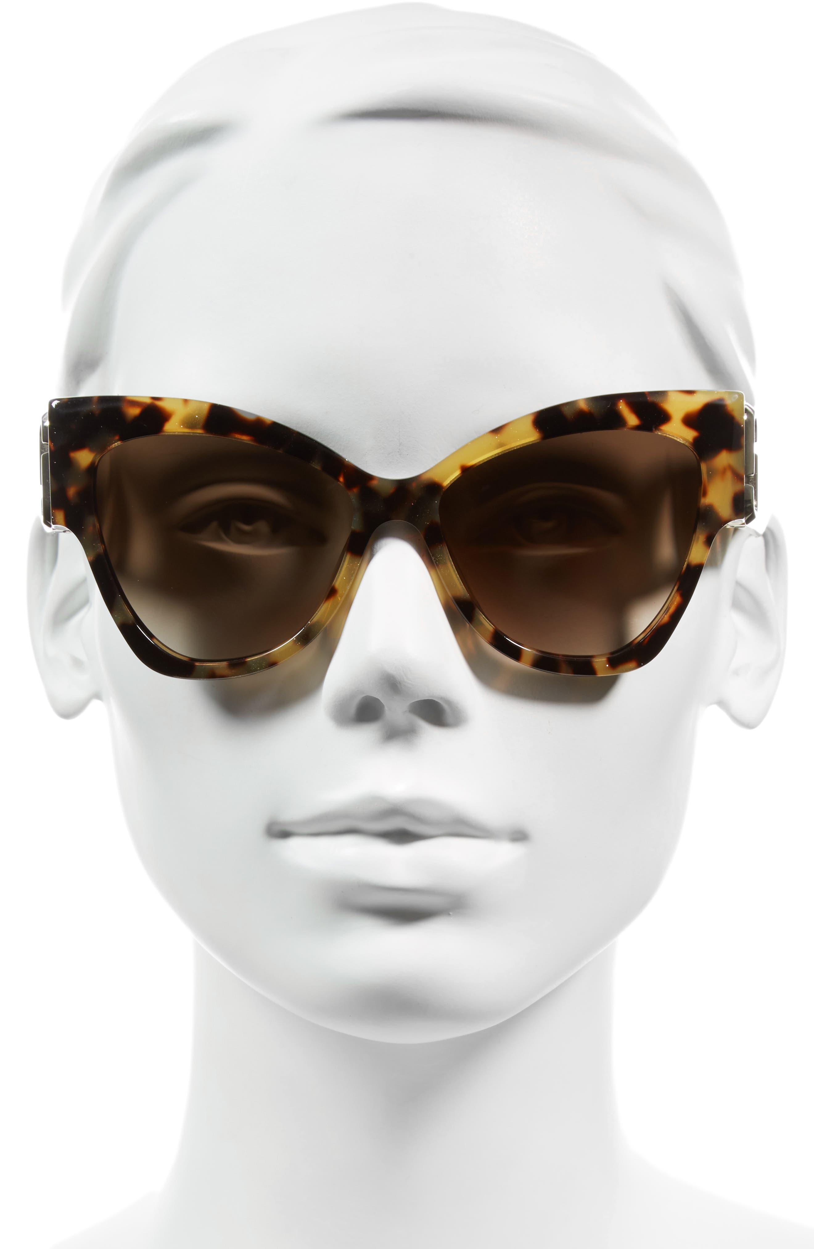 54mm Oversized Sunglasses,                             Alternate thumbnail 4, color,