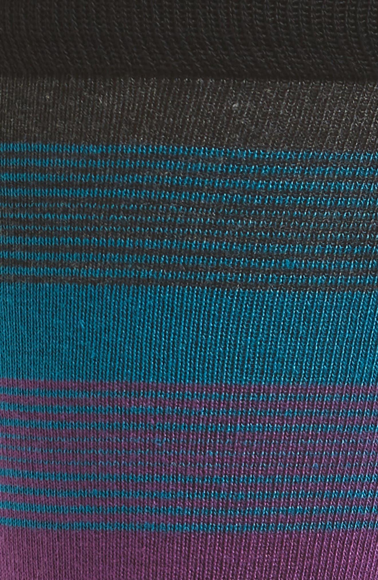 Stripe Socks,                             Alternate thumbnail 2, color,                             BLACK/ MAGENTA