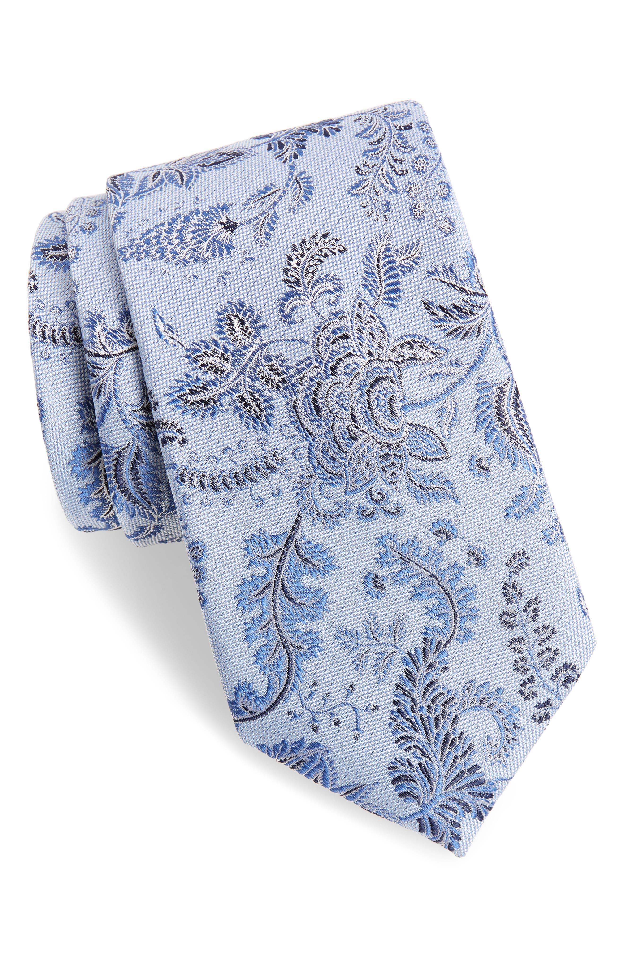 Trevis Floral Silk & Cotton Tie,                             Main thumbnail 2, color,