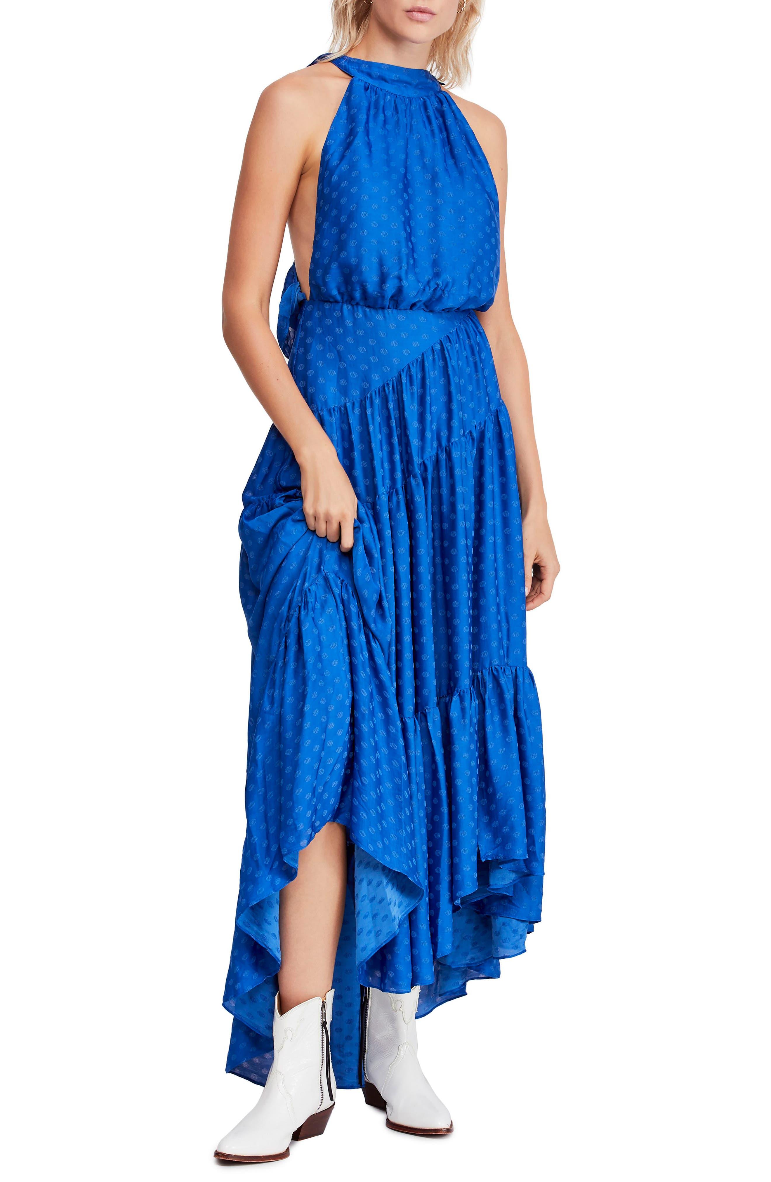 Free People Wild Heart Maxi Dress, Blue