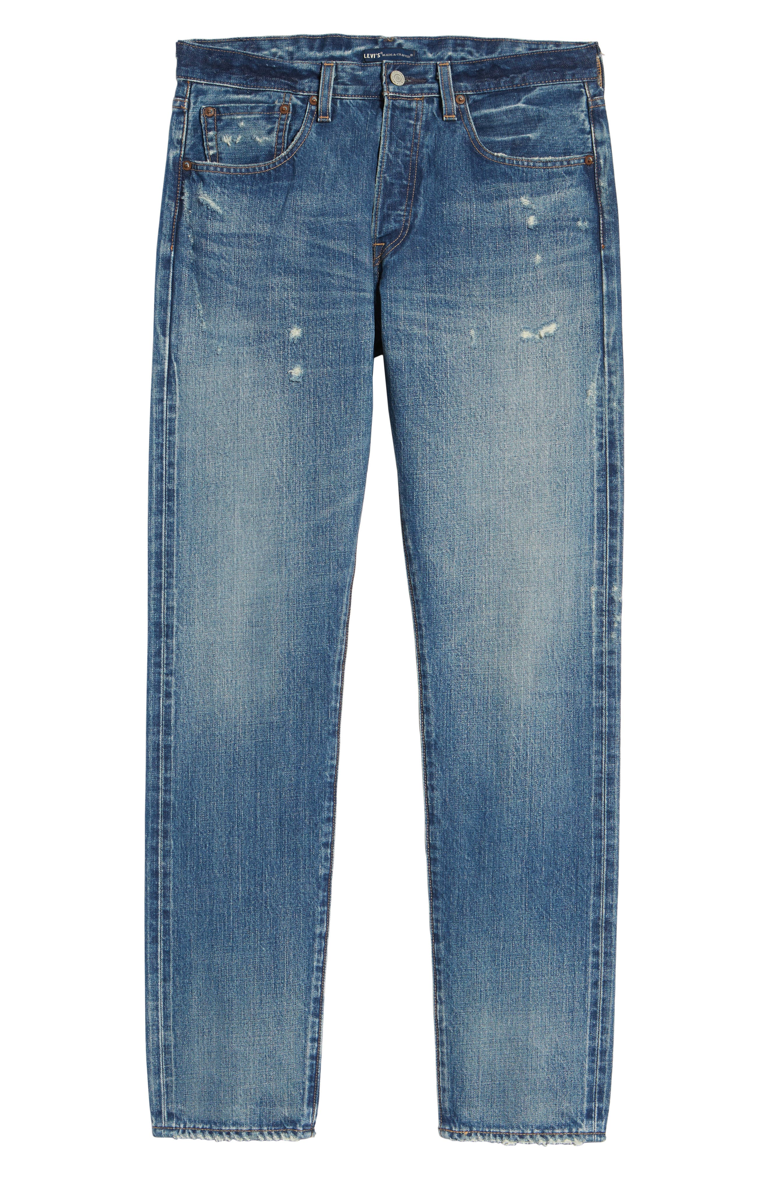 Levi's<sup>®</sup> Made & Crafted 501<sup>™</sup> Slim Fit Tapered Jeans,                             Alternate thumbnail 6, color,                             FOREVER