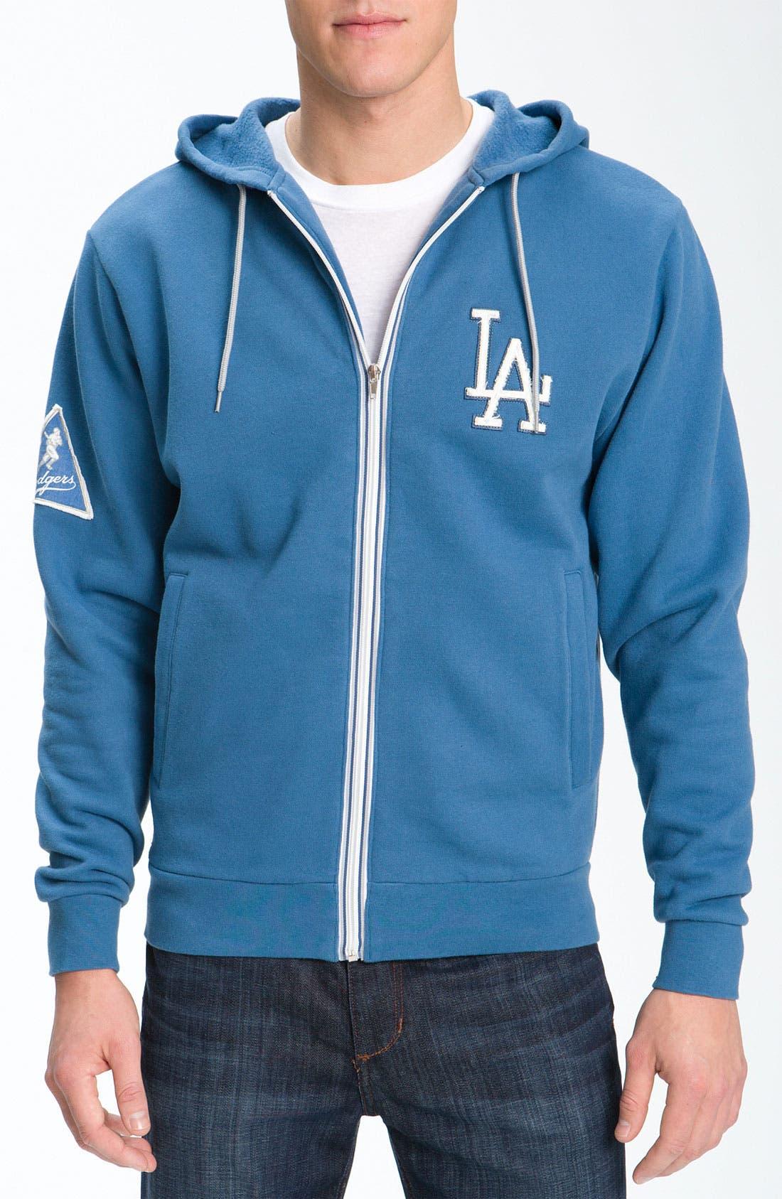 'Los Angeles Dodgers' Hoodie,                         Main,                         color, 401