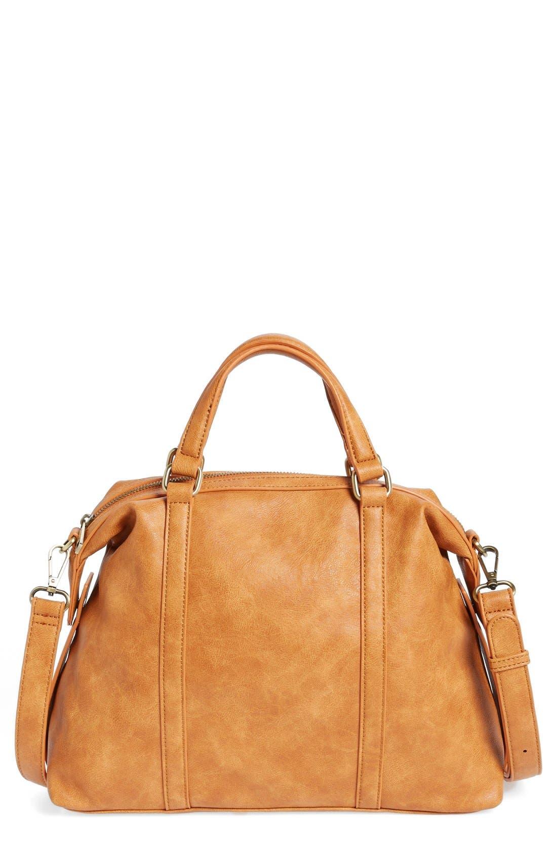 'Oliva' Faux Leather Satchel,                             Main thumbnail 2, color,