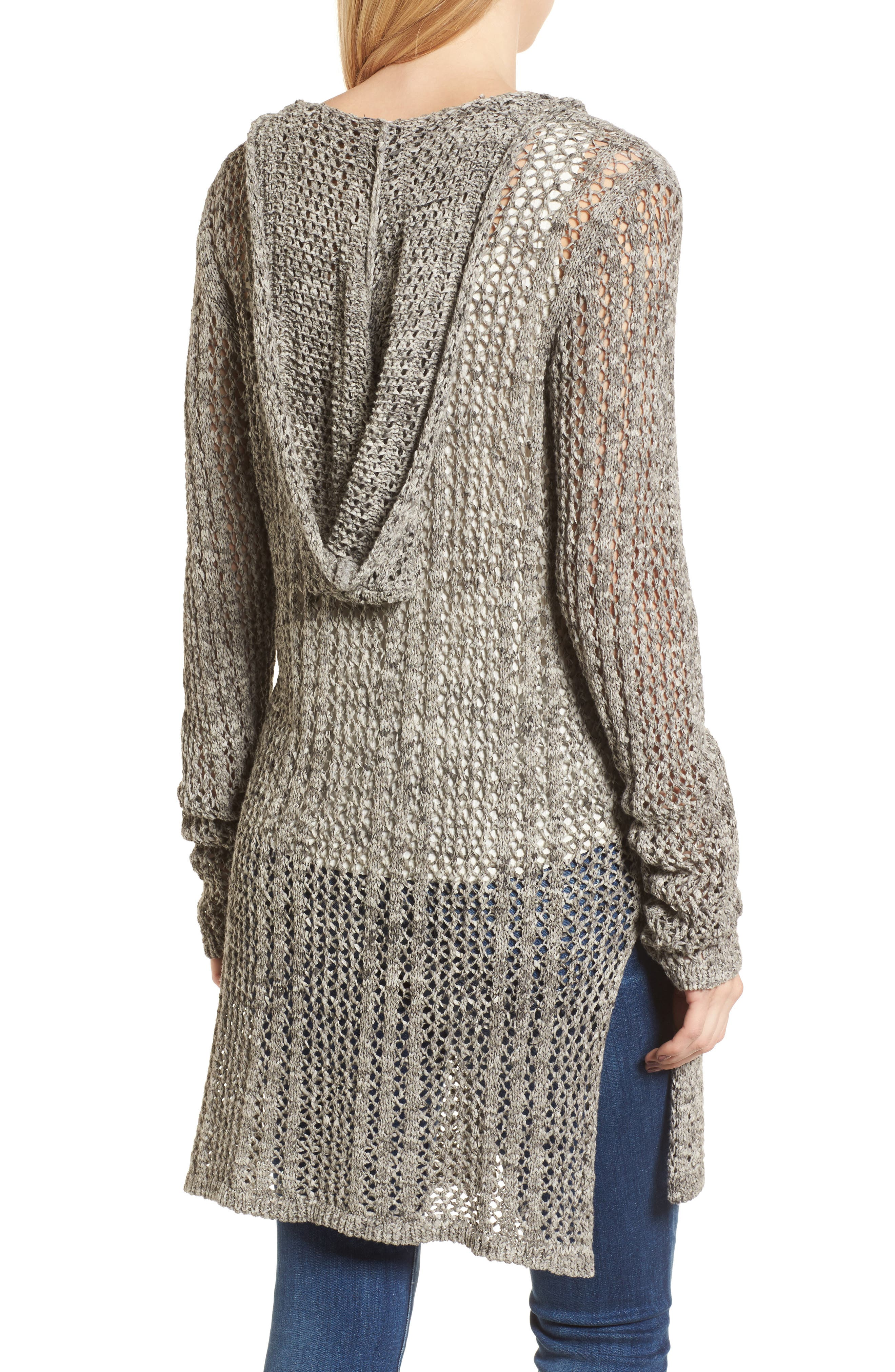 Knox Hooded Cardigan,                             Alternate thumbnail 3, color,