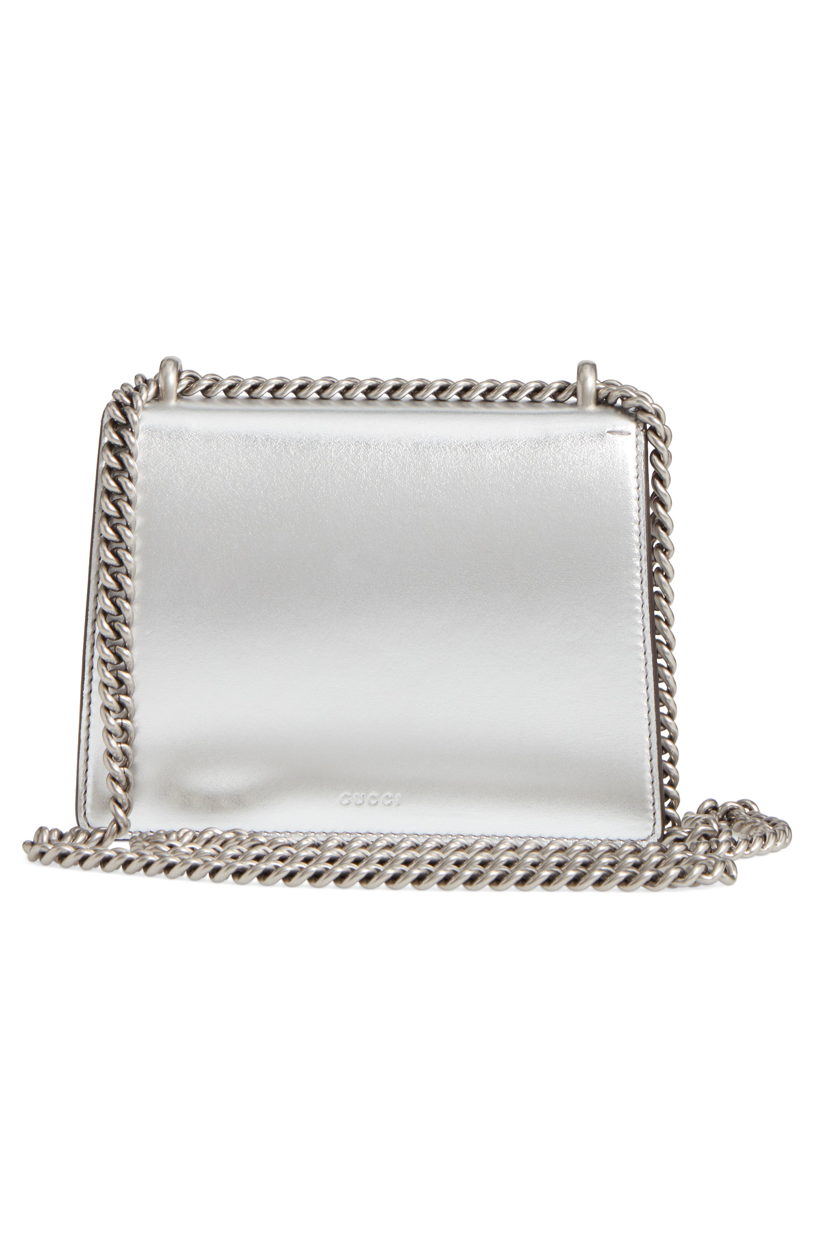 Mini Dionysus Metallic Leather Shoulder Bag,                             Alternate thumbnail 3, color,                             045