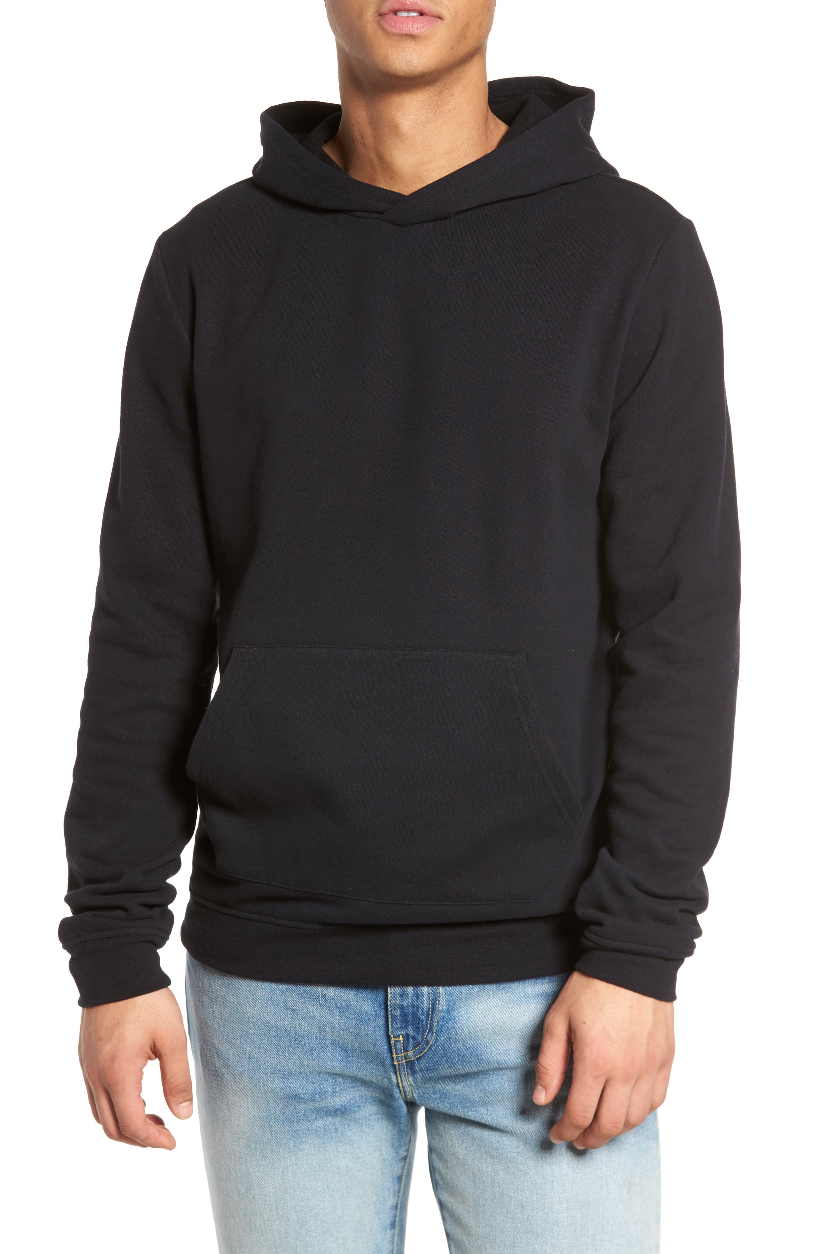 Fleece Hoodie,                             Main thumbnail 1, color,                             001