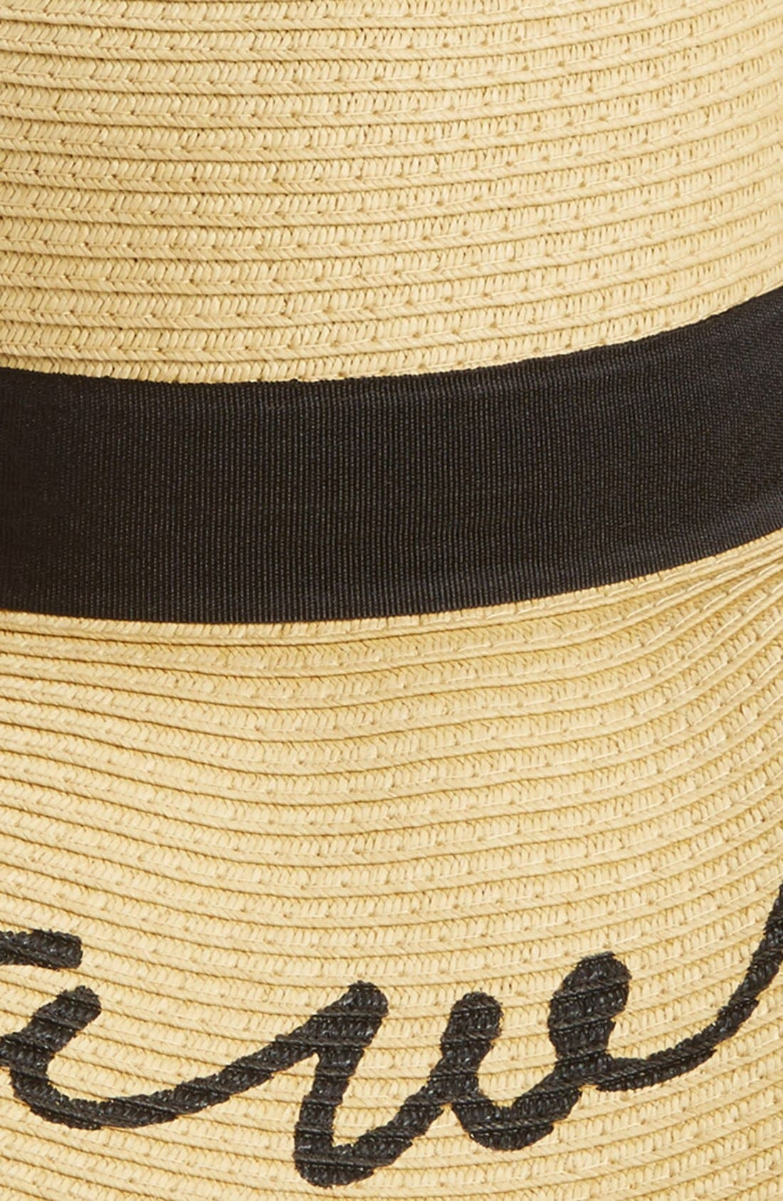 'Come Sail Away' Floppy Straw Hat,                             Alternate thumbnail 2, color,                             285