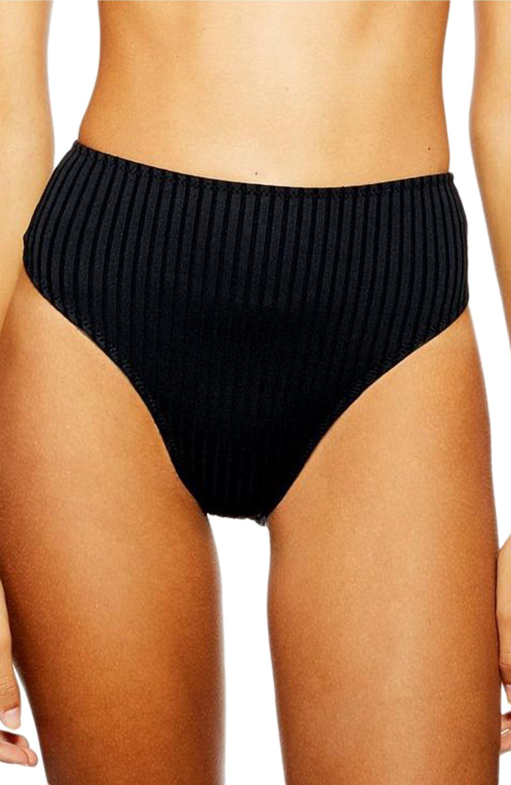 4de53e1ffef12 Topshop Ribbed High Waist Bikini Bottoms