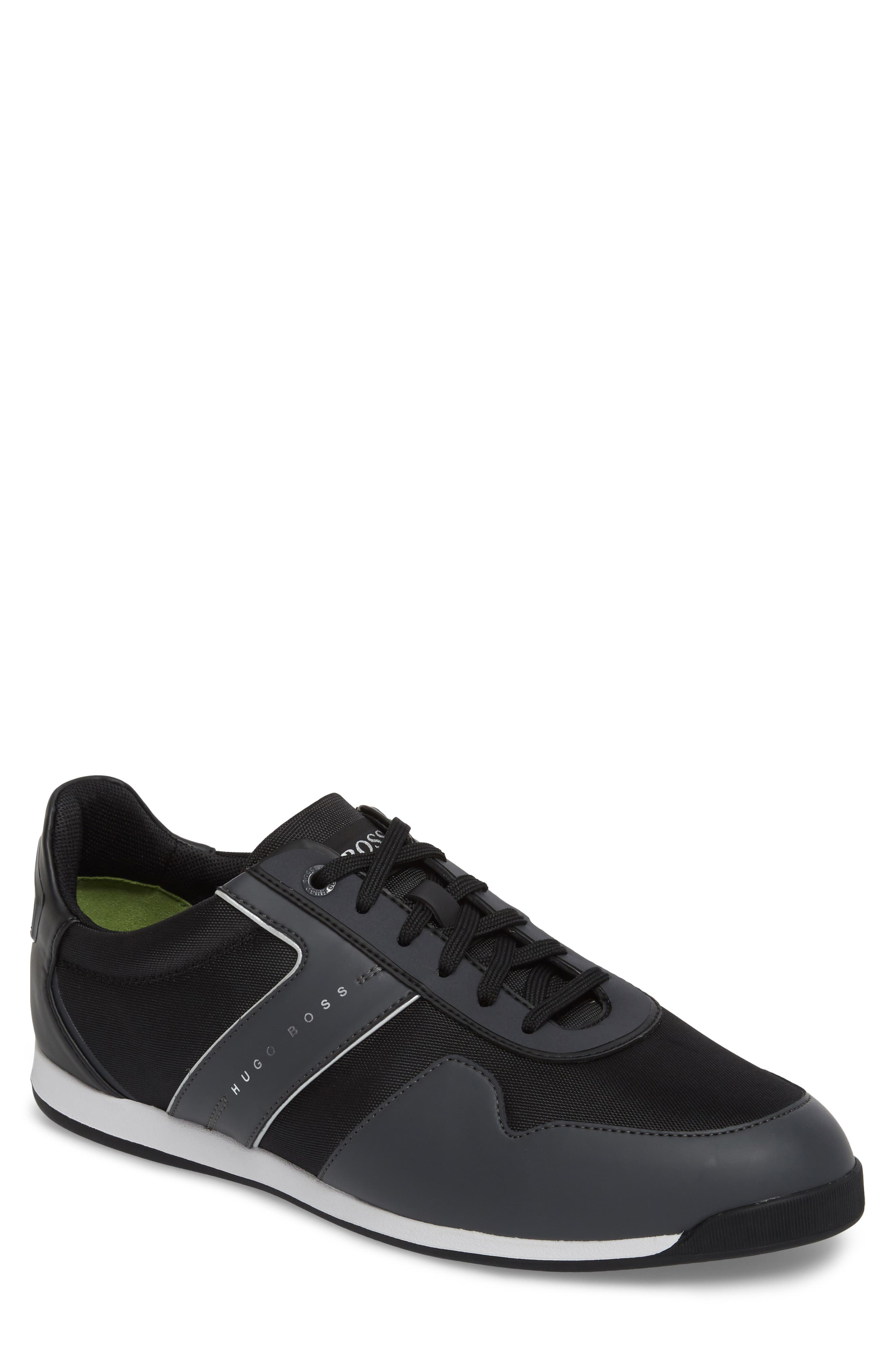 Maze Water Resistant Low Top Sneaker,                         Main,                         color, CHARCOAL