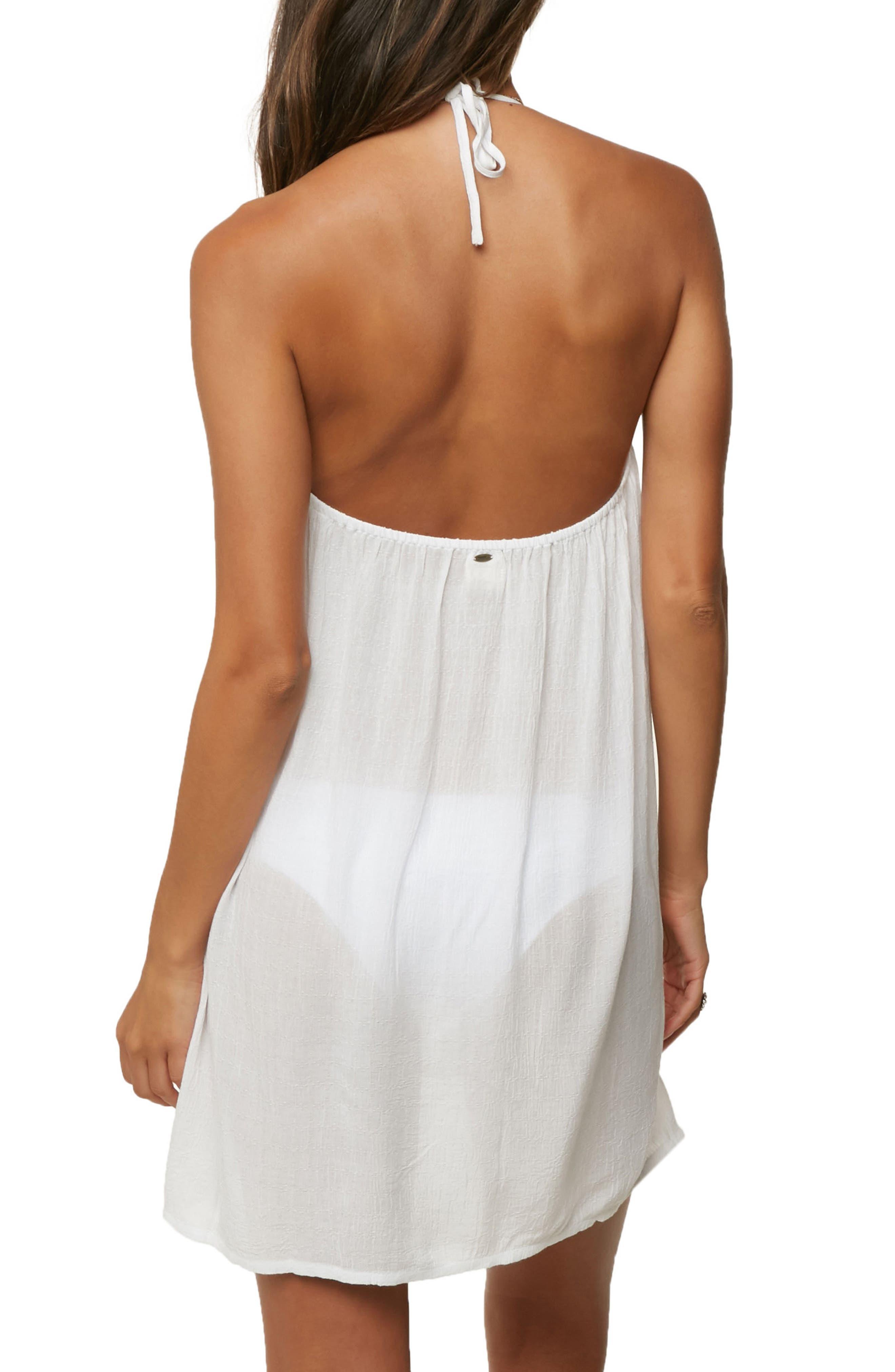 Waimea Cover-Up Halter Dress,                             Alternate thumbnail 2, color,                             100