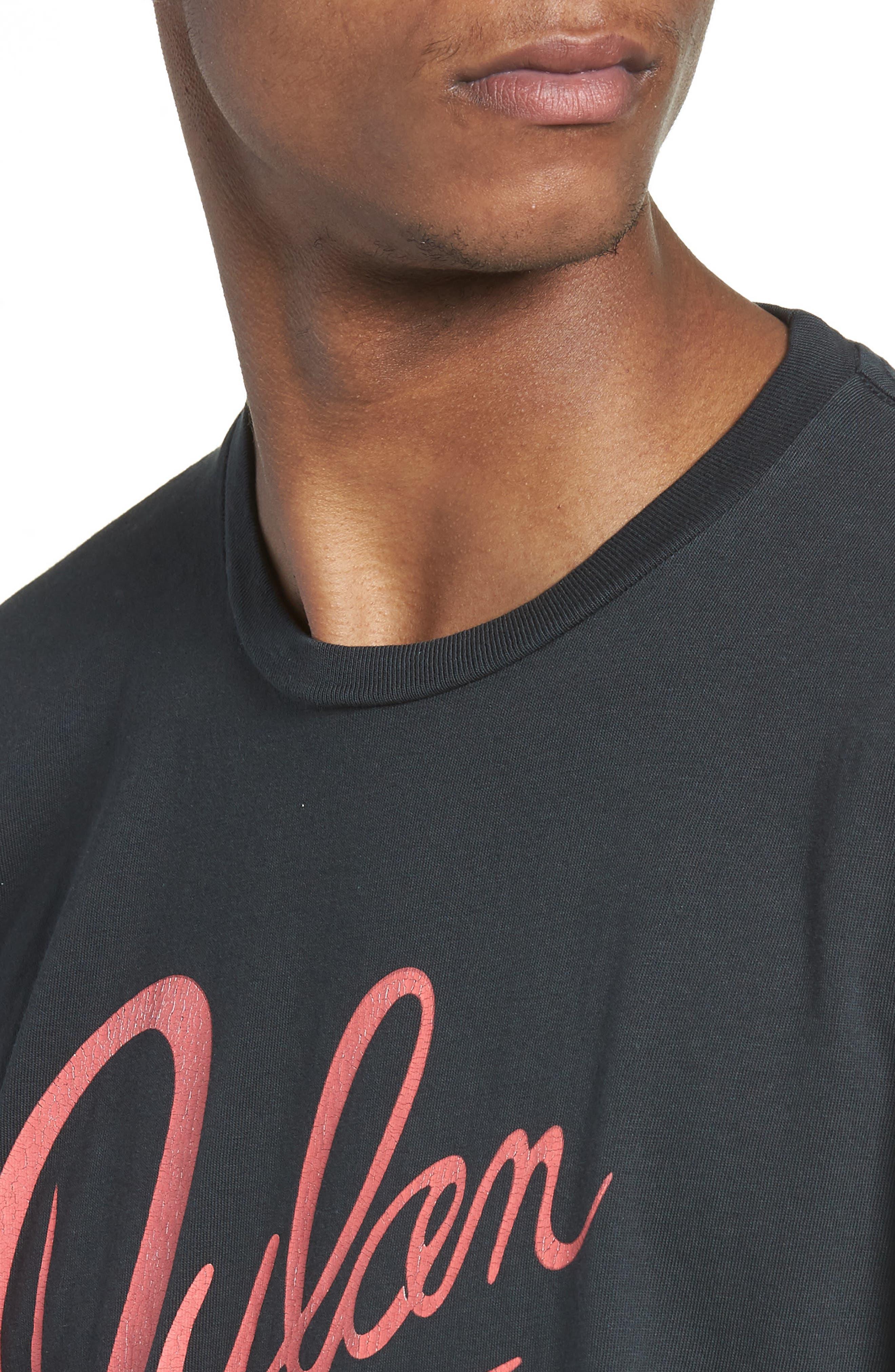Dylan Desire T-Shirt,                             Alternate thumbnail 4, color,                             DUSTY BLACK