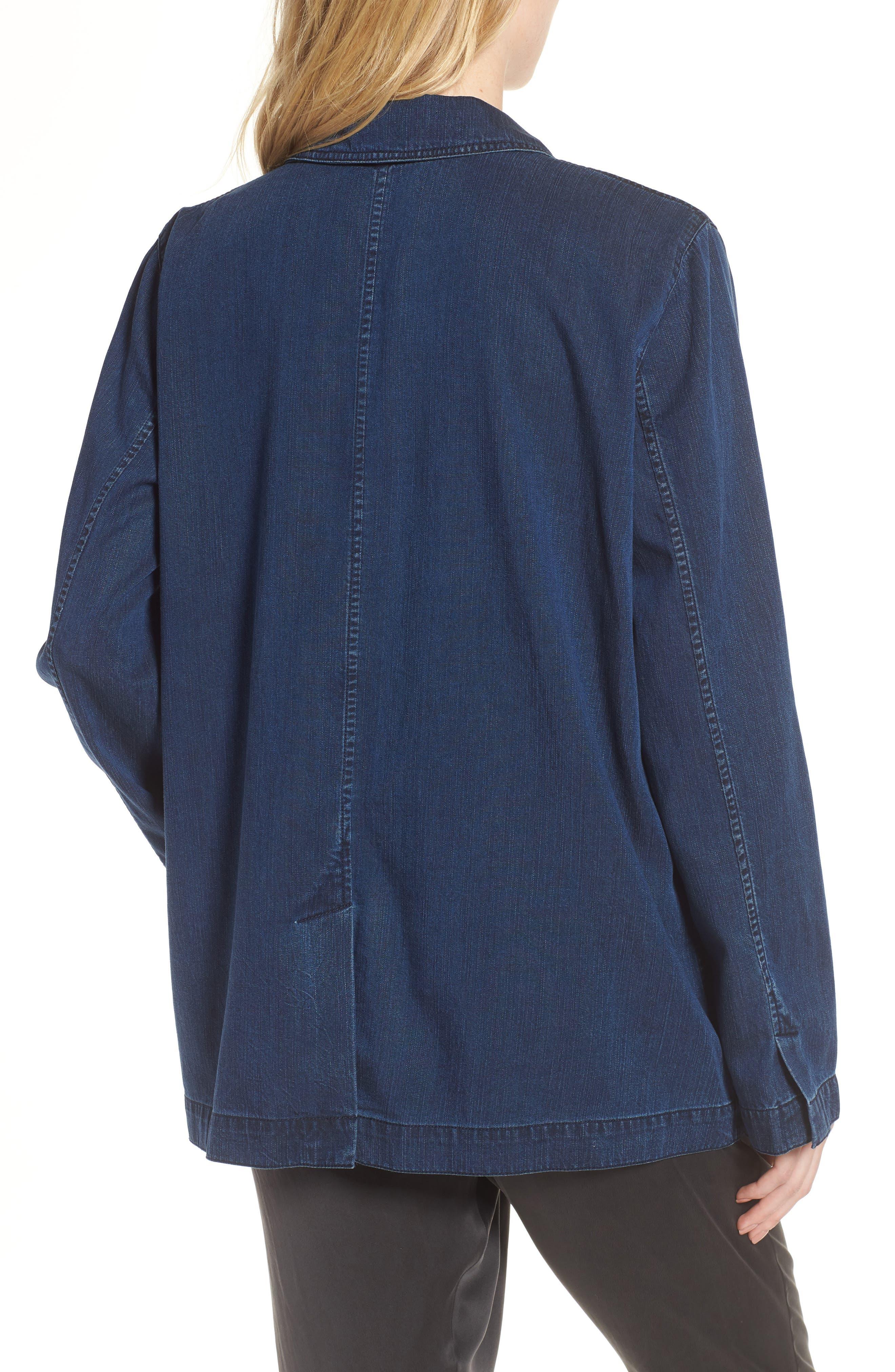 Soft Cotton Blend Denim Jacket,                             Alternate thumbnail 2, color,                             419