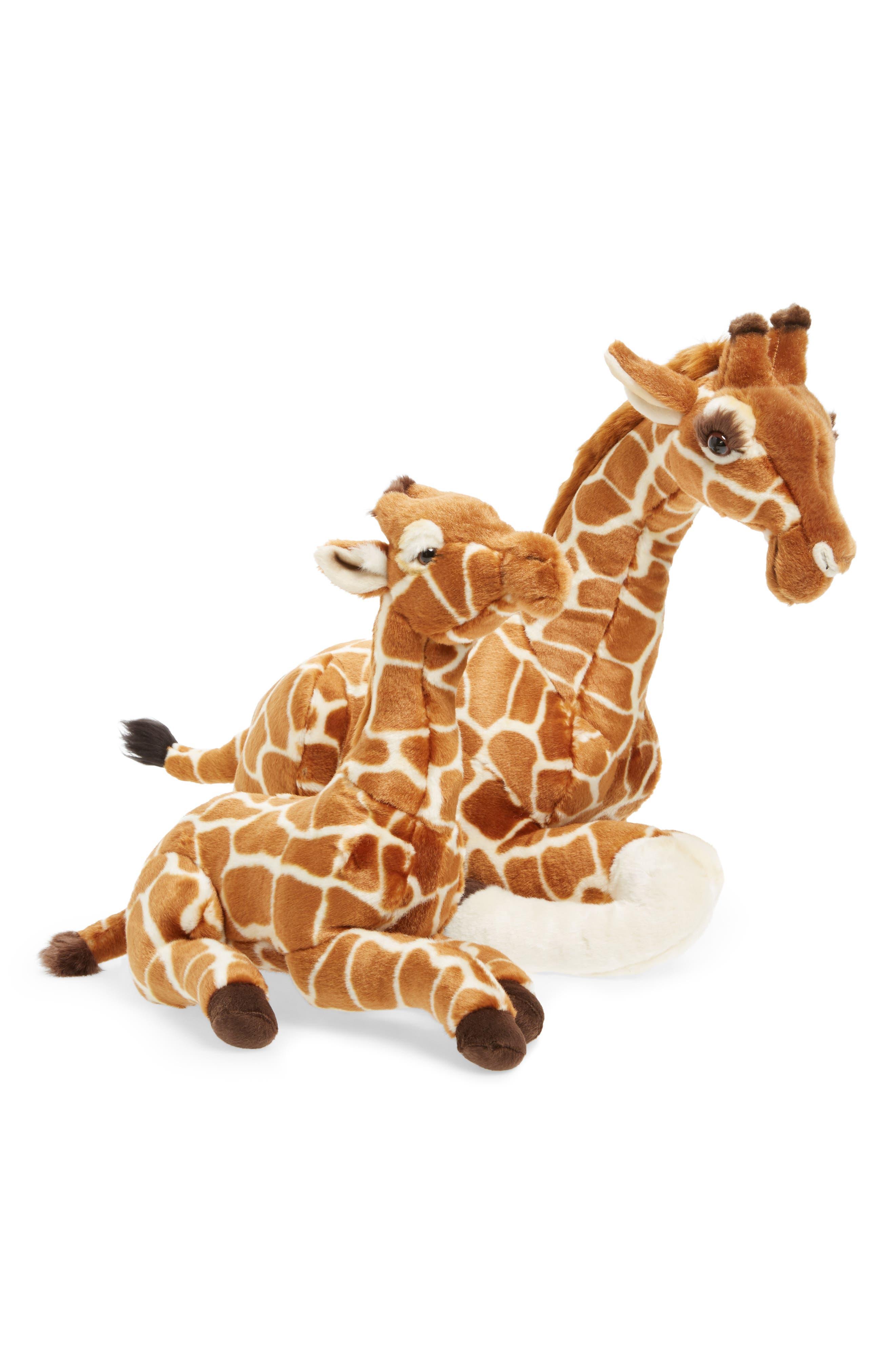 Plush Parent & Baby Giraffe Set, Main, color, 200