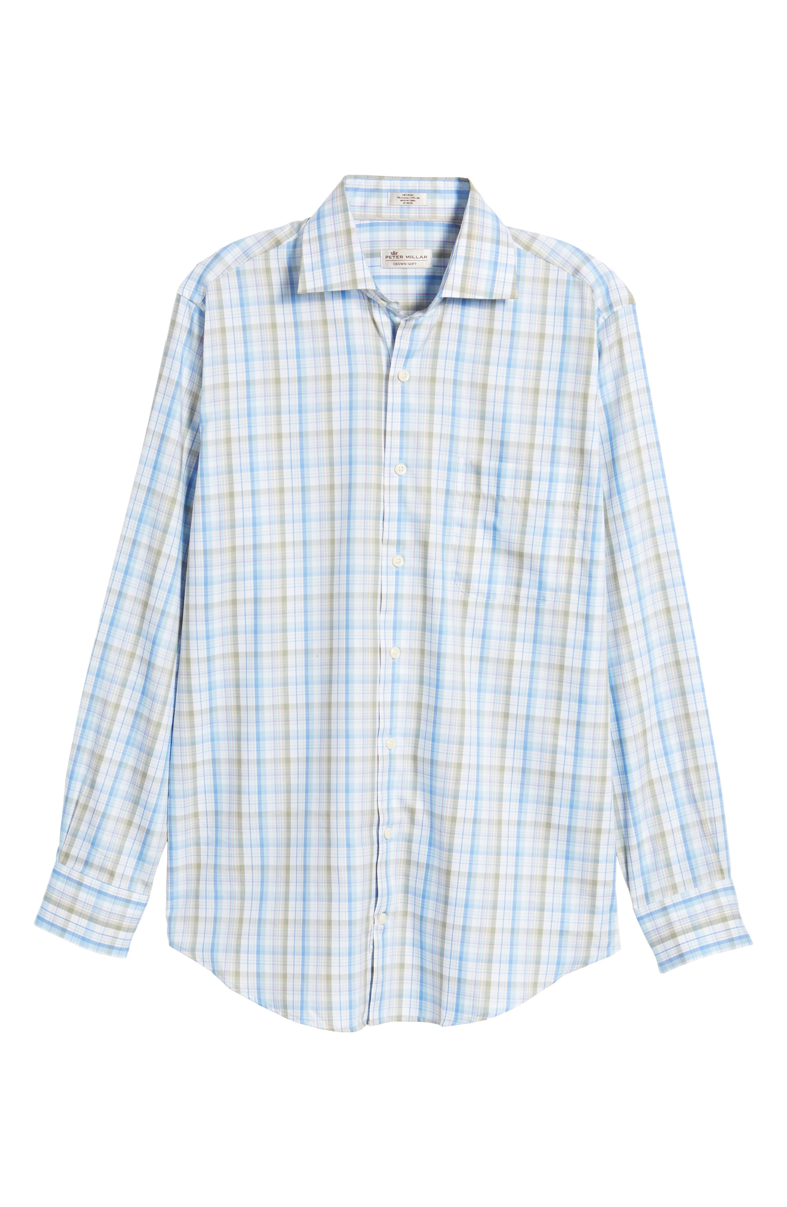 Crown Waterway Plaid Sport Shirt,                             Alternate thumbnail 6, color,                             418