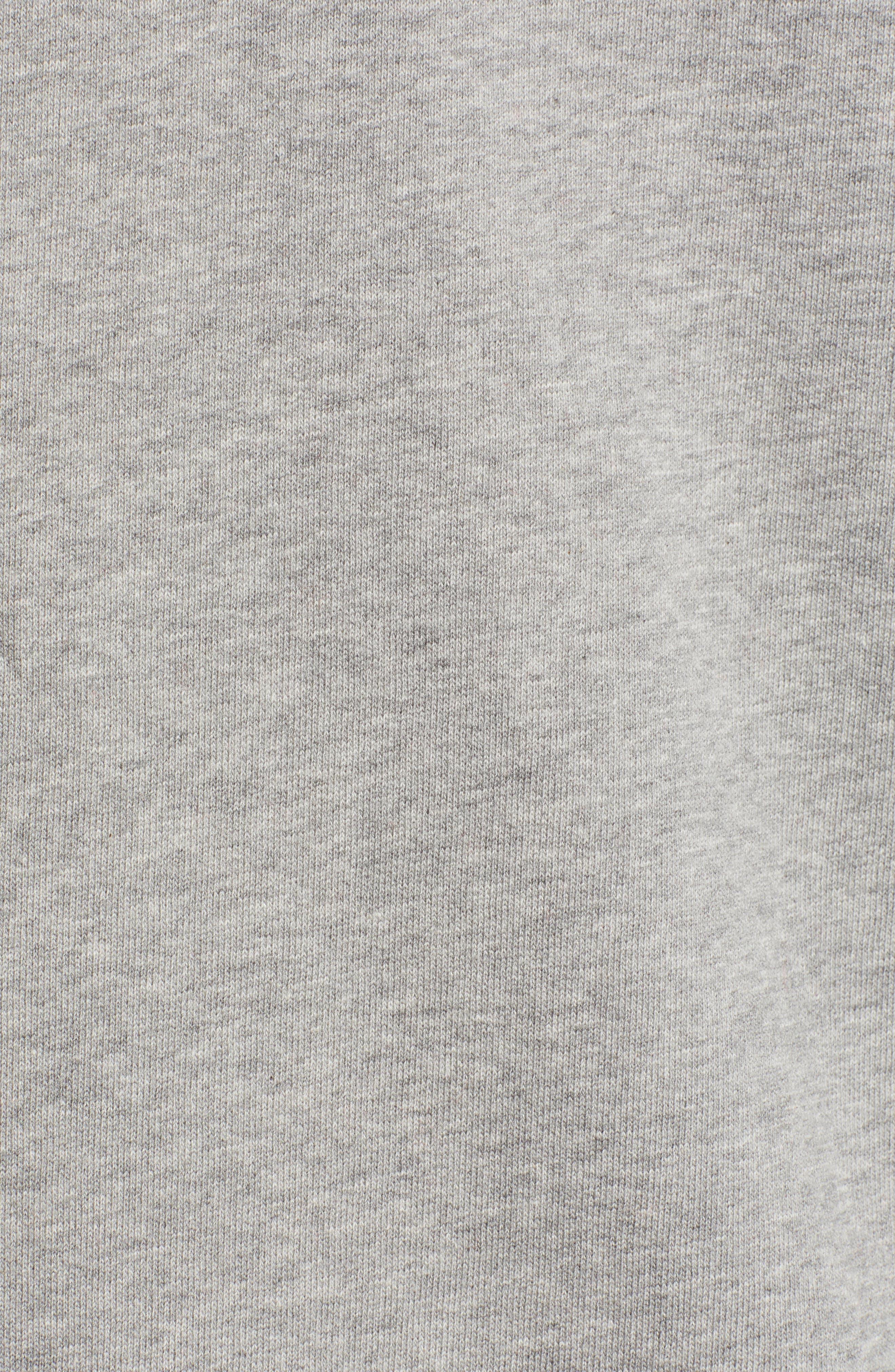 Pause Hooded Zip Sweatshirt,                             Alternate thumbnail 5, color,                             GREY MELANGE