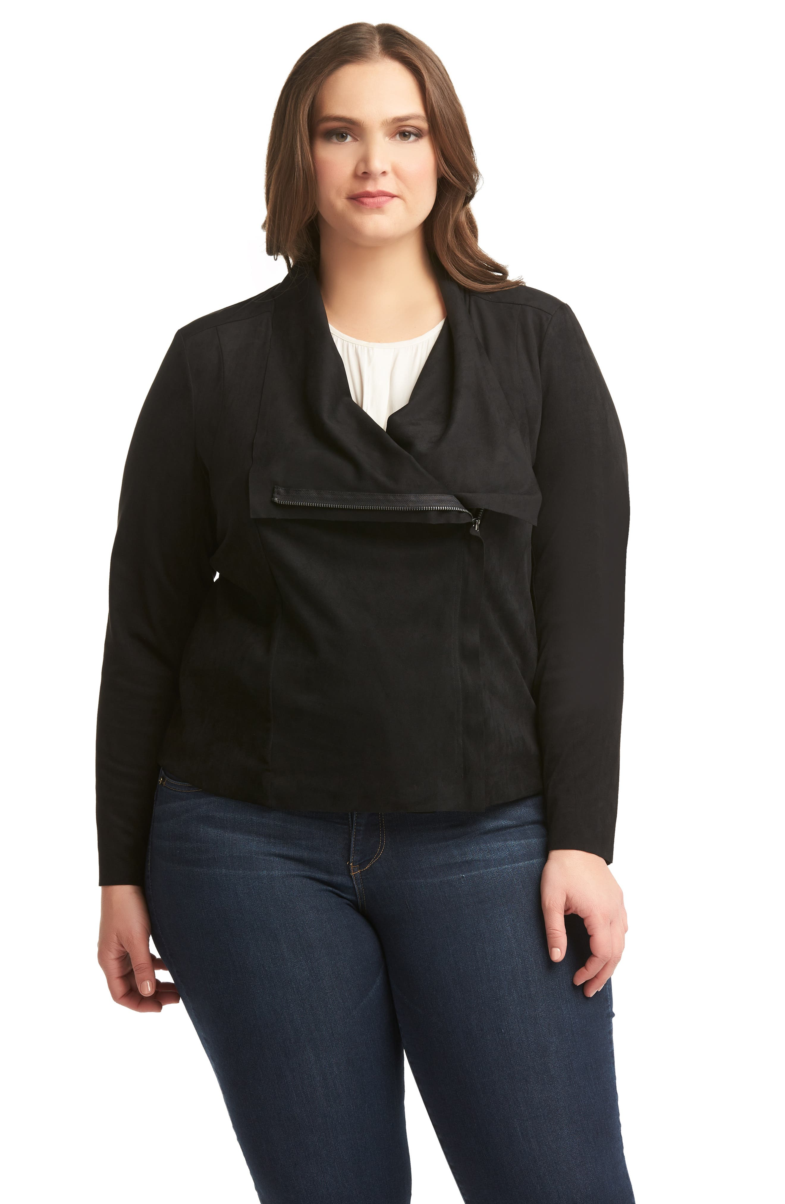 LEMON TART,                             Sayna Moto Jacket,                             Alternate thumbnail 5, color,                             BLACK