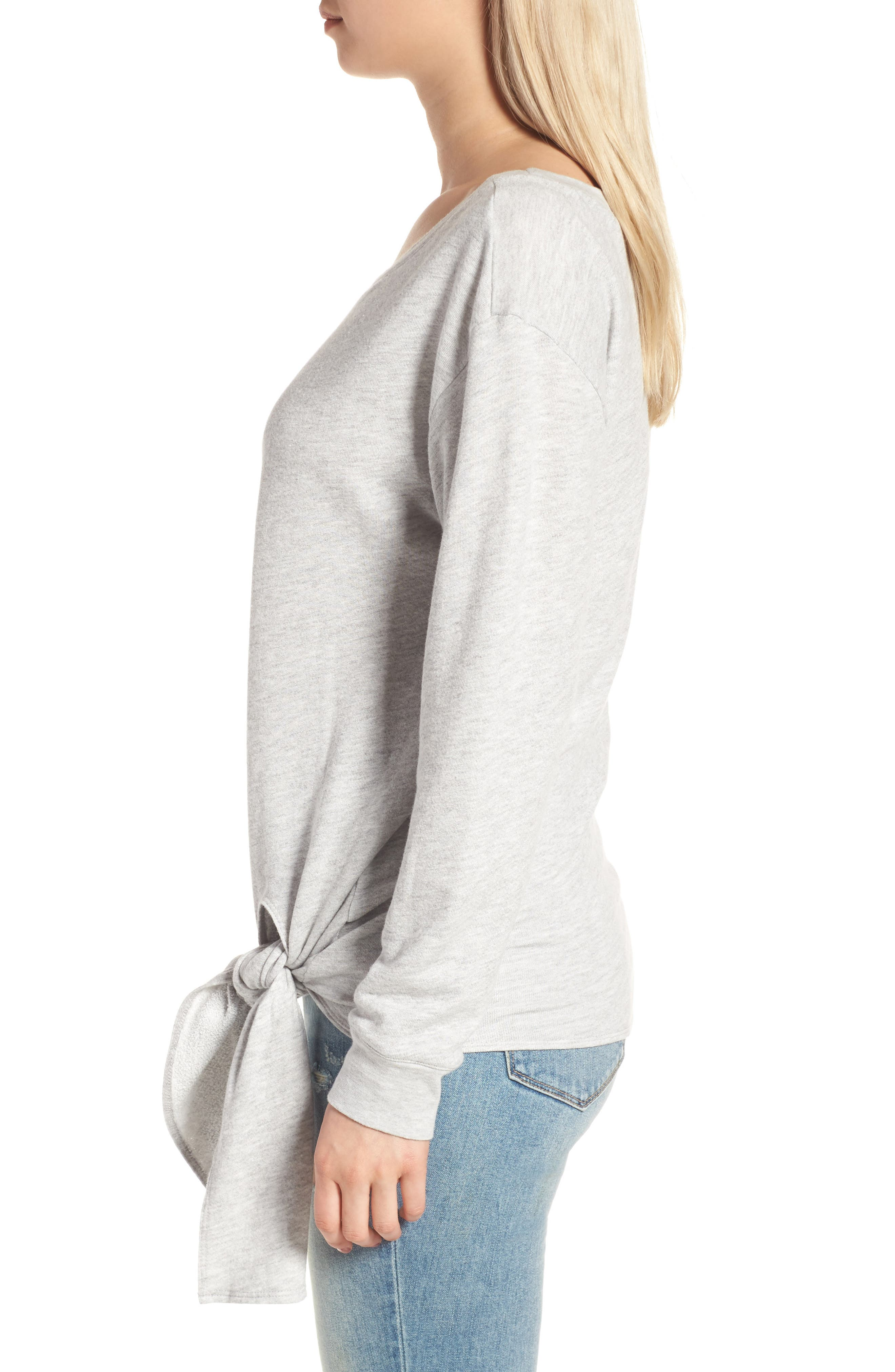 HINGE,                             Tie Front Pullover,                             Alternate thumbnail 3, color,                             020