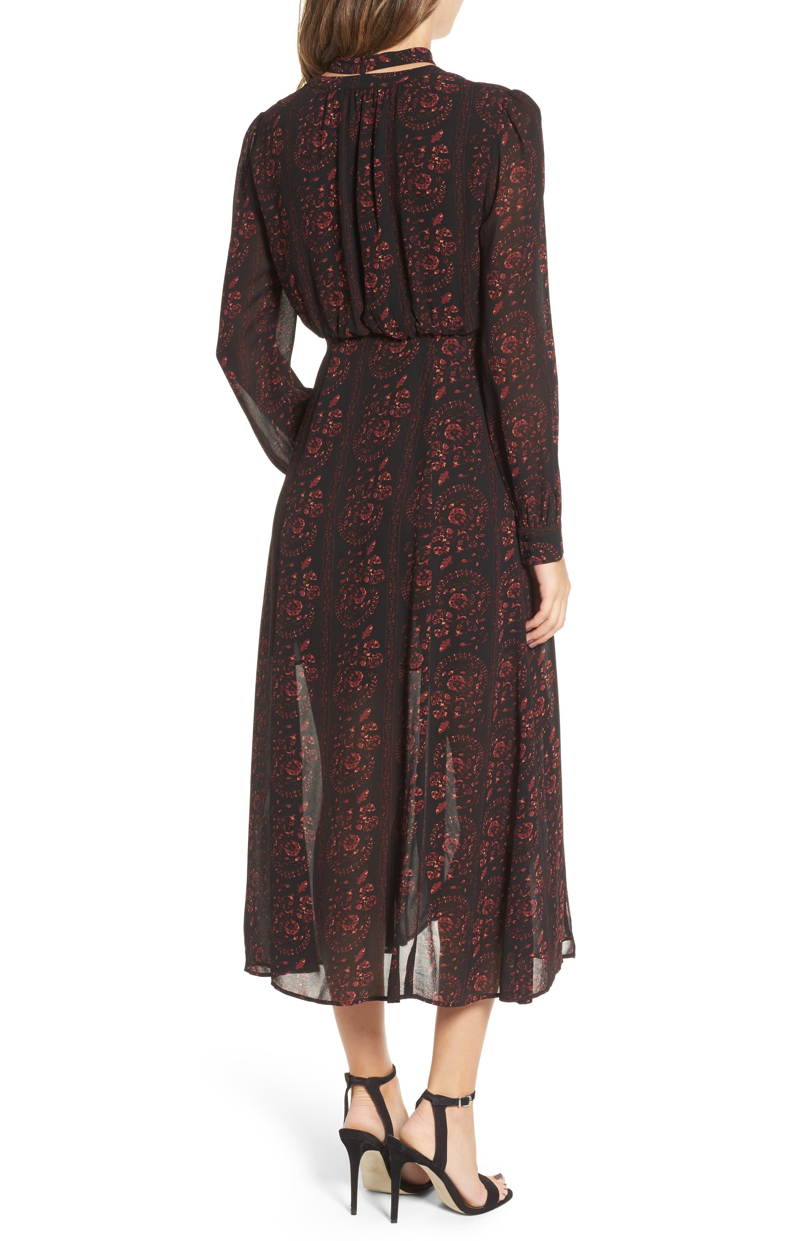 Natalie Midi Dress,                             Alternate thumbnail 2, color,                             004