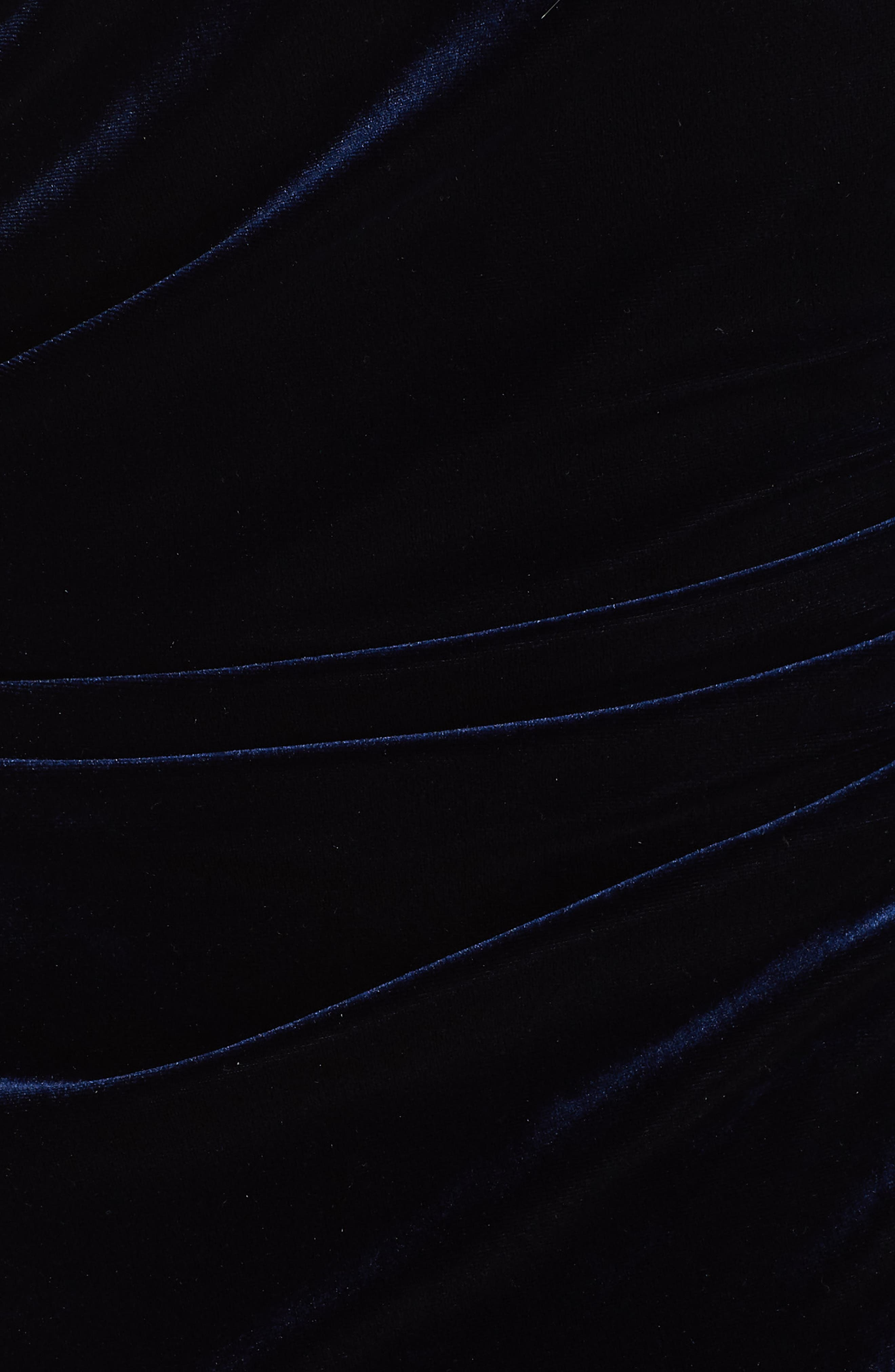 Erenira Mixed Media Gown,                             Alternate thumbnail 5, color,                             BLUE NOTTE