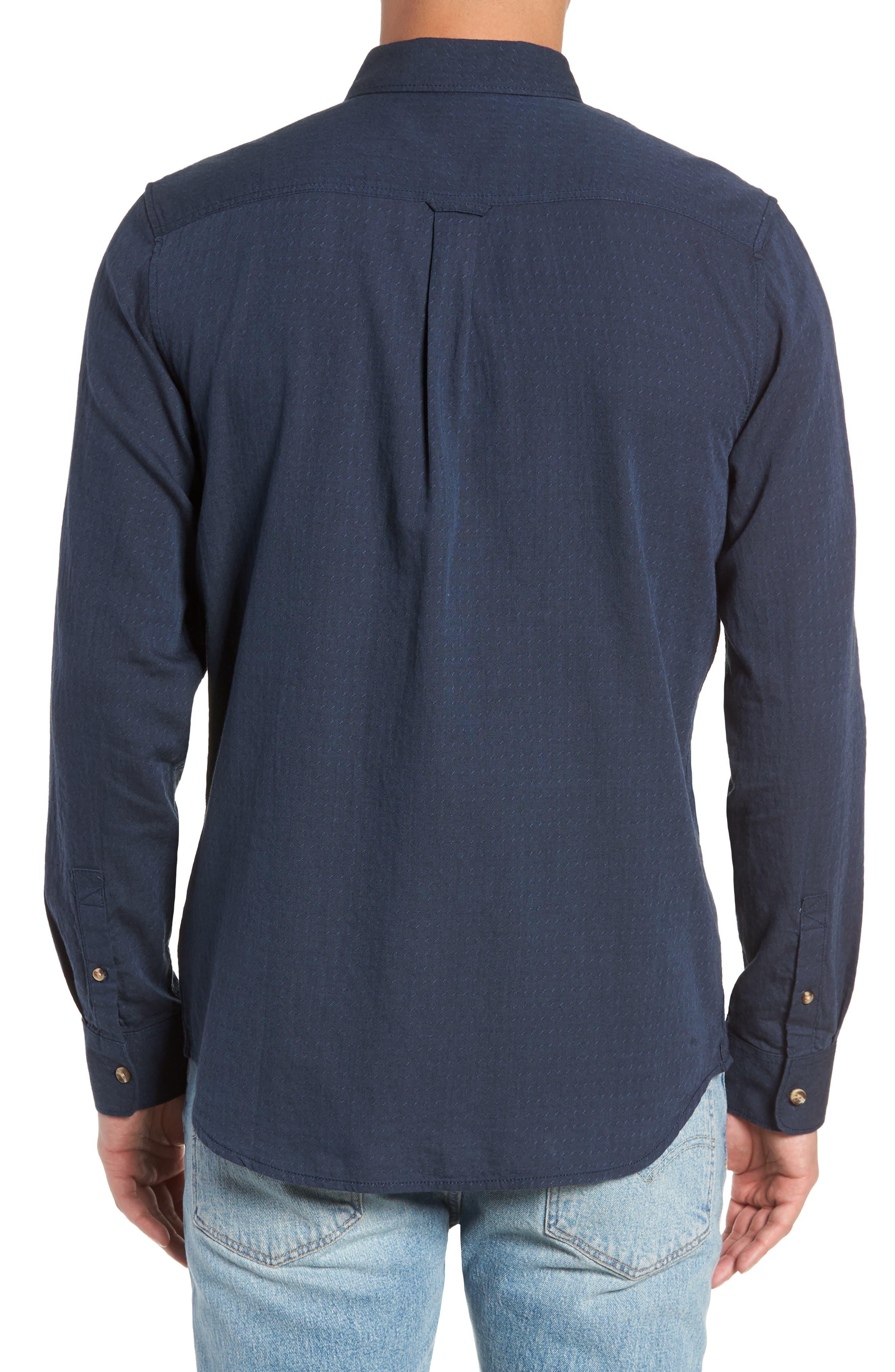 Wakefield Woven Shirt,                             Alternate thumbnail 3, color,                             DRESS BLUES