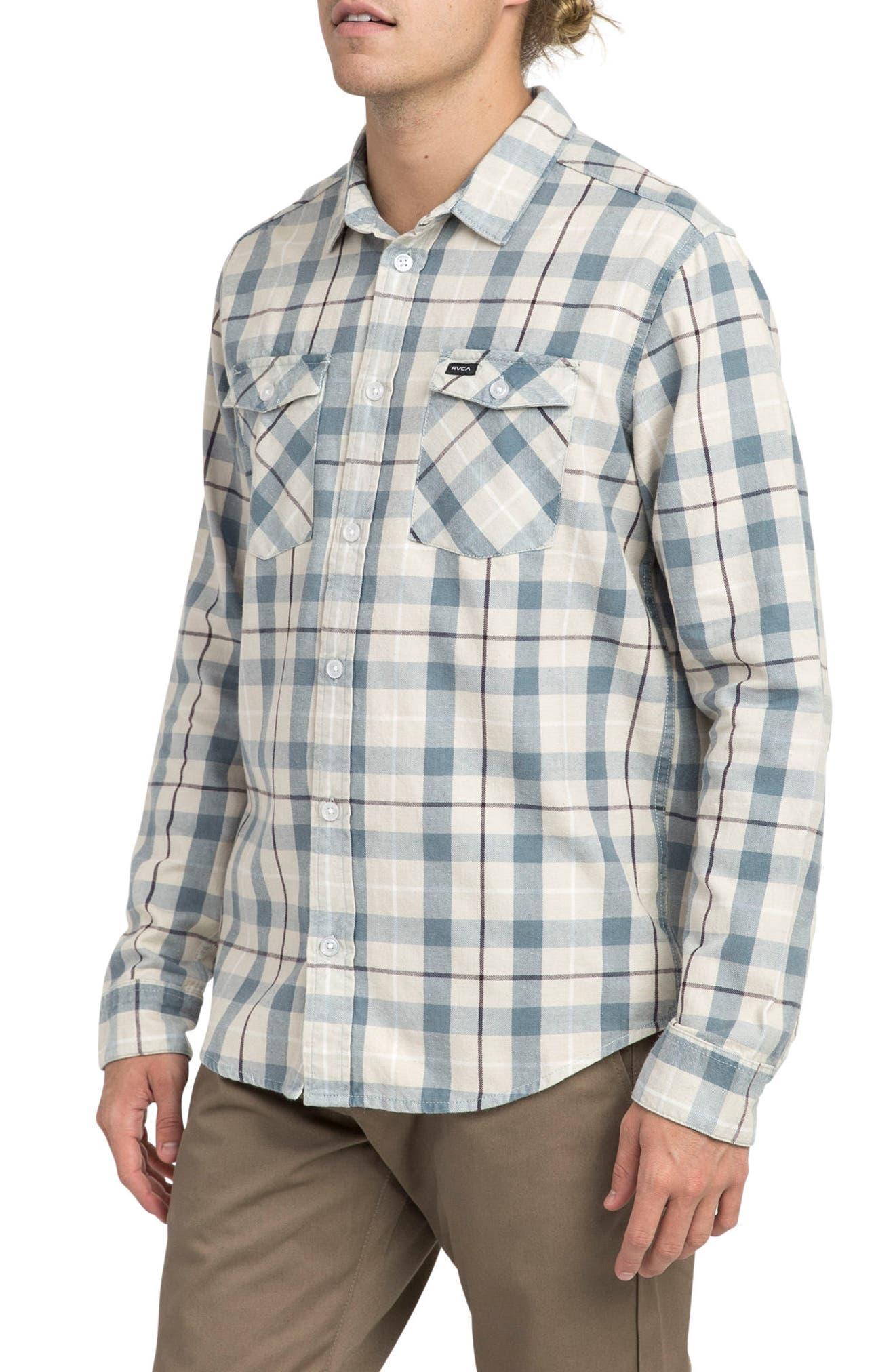 Treets Plaid Flannel Shirt,                             Alternate thumbnail 3, color,                             020