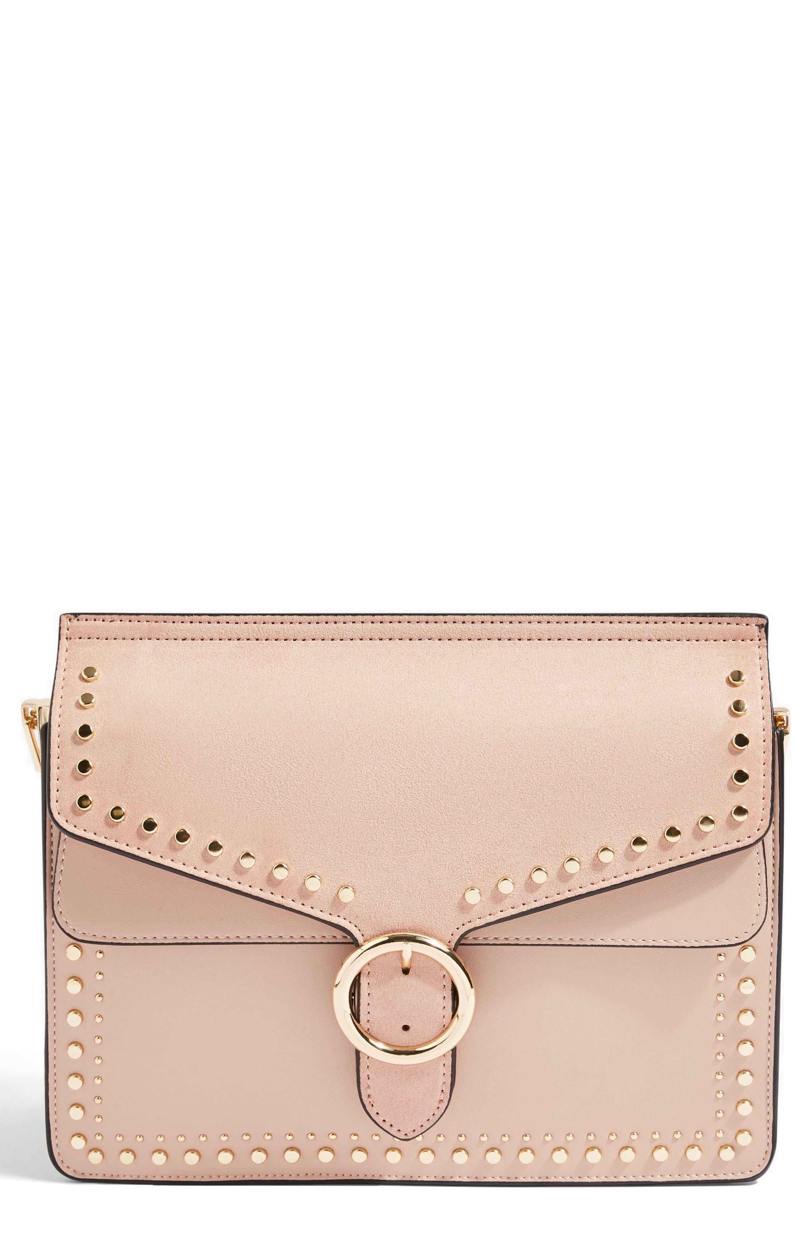 Peony Studded Shoulder Bag,                             Main thumbnail 3, color,
