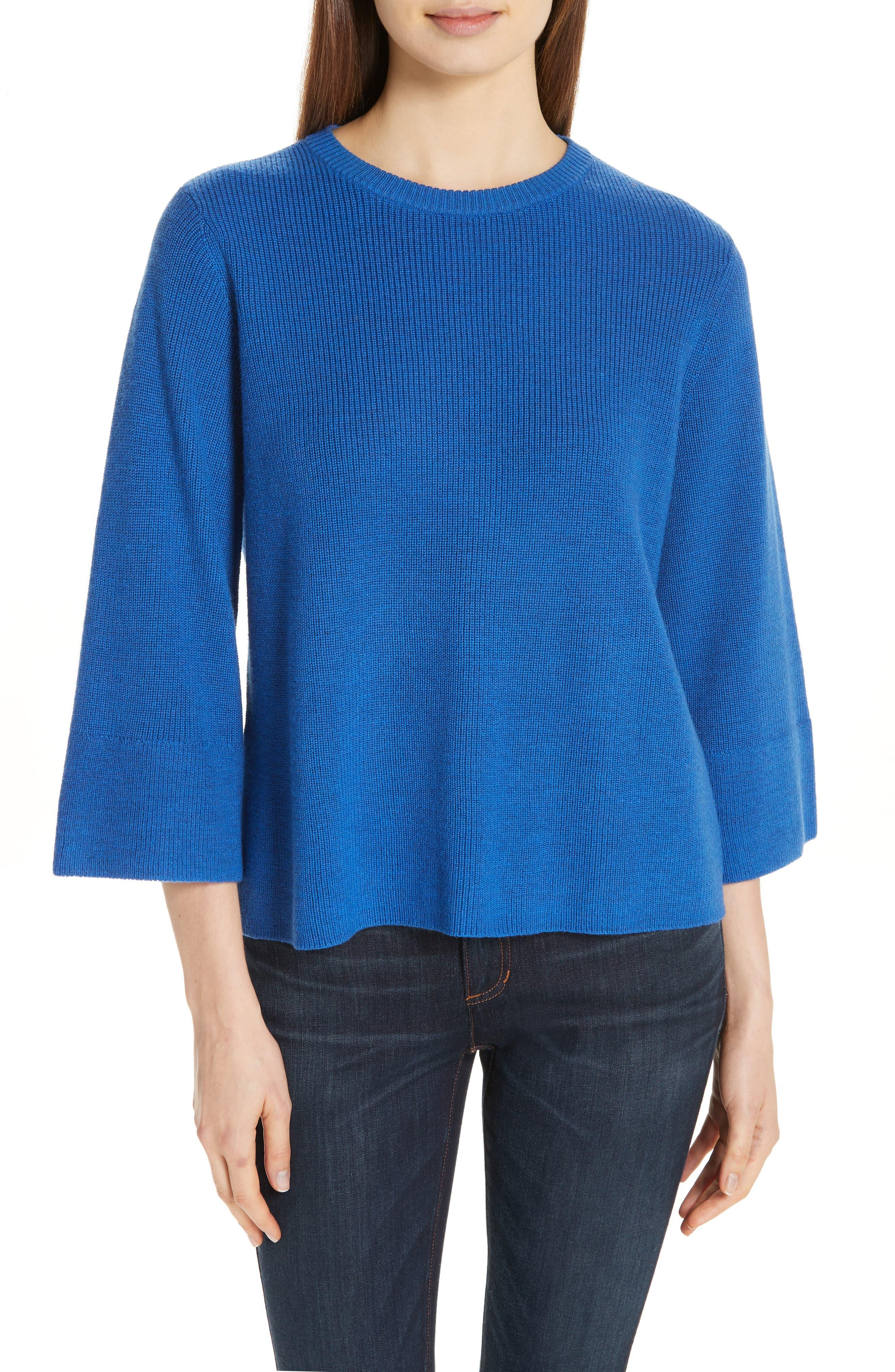 women's eileen fisher three quarter sleeve sweater