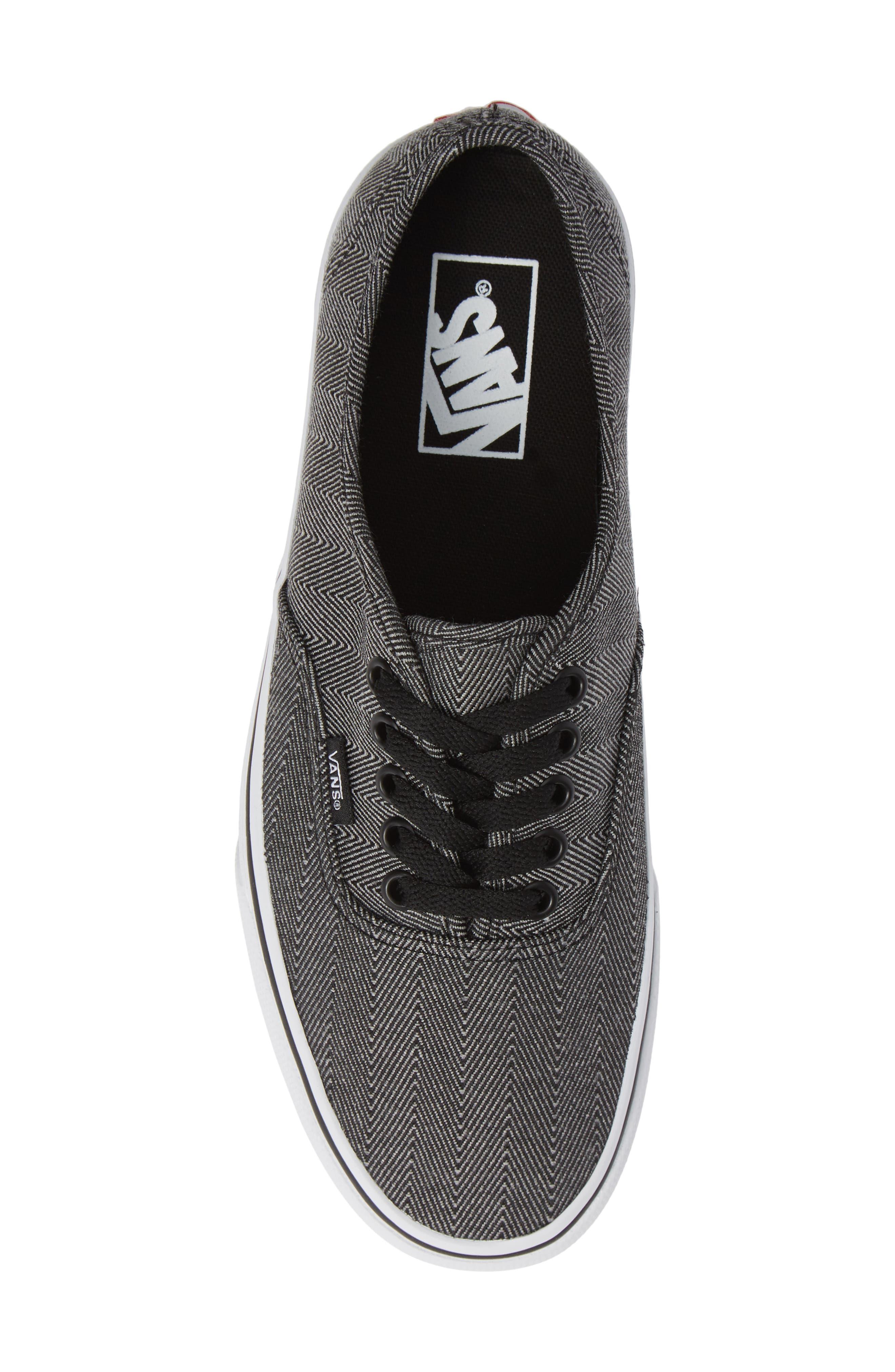 UA Authentic Sneaker,                             Alternate thumbnail 5, color,                             BLACK/ TRUE WHITE